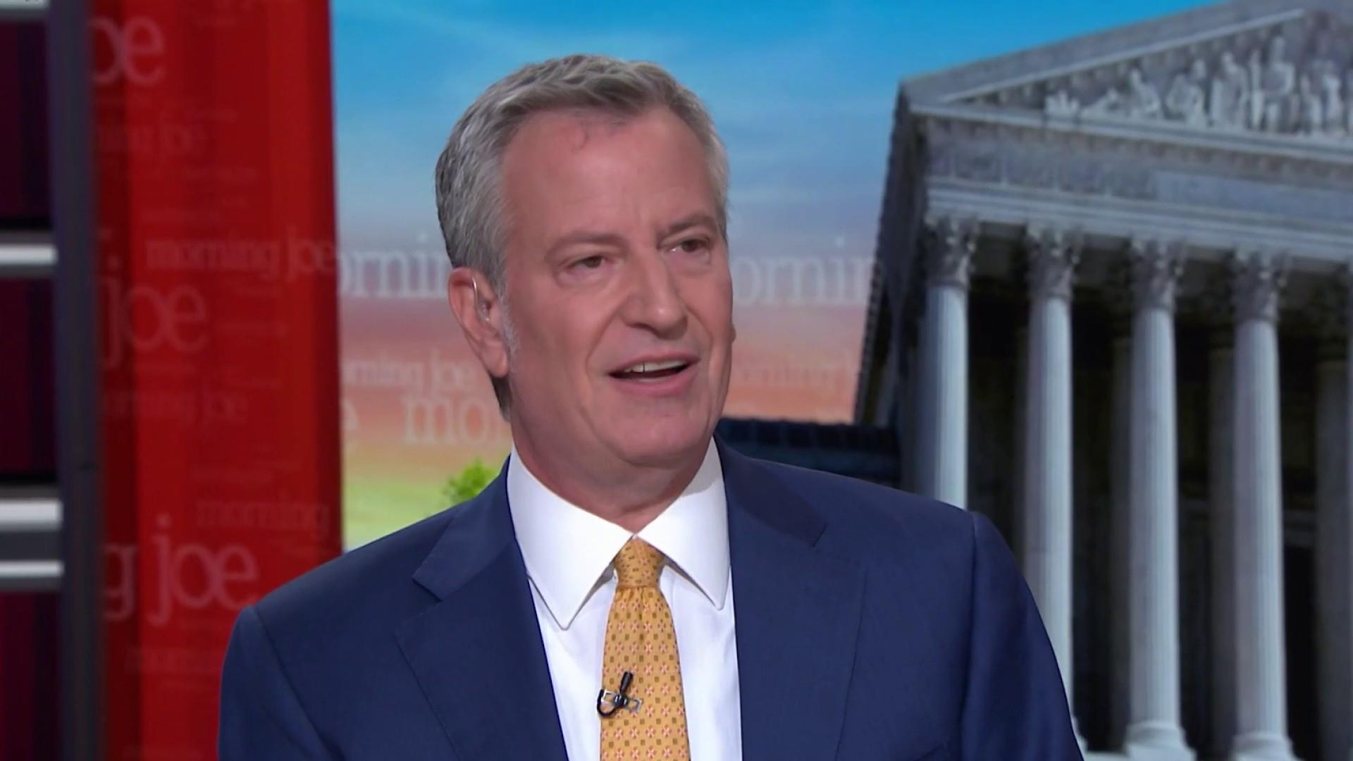 De Blasio: Trump is making America hate again