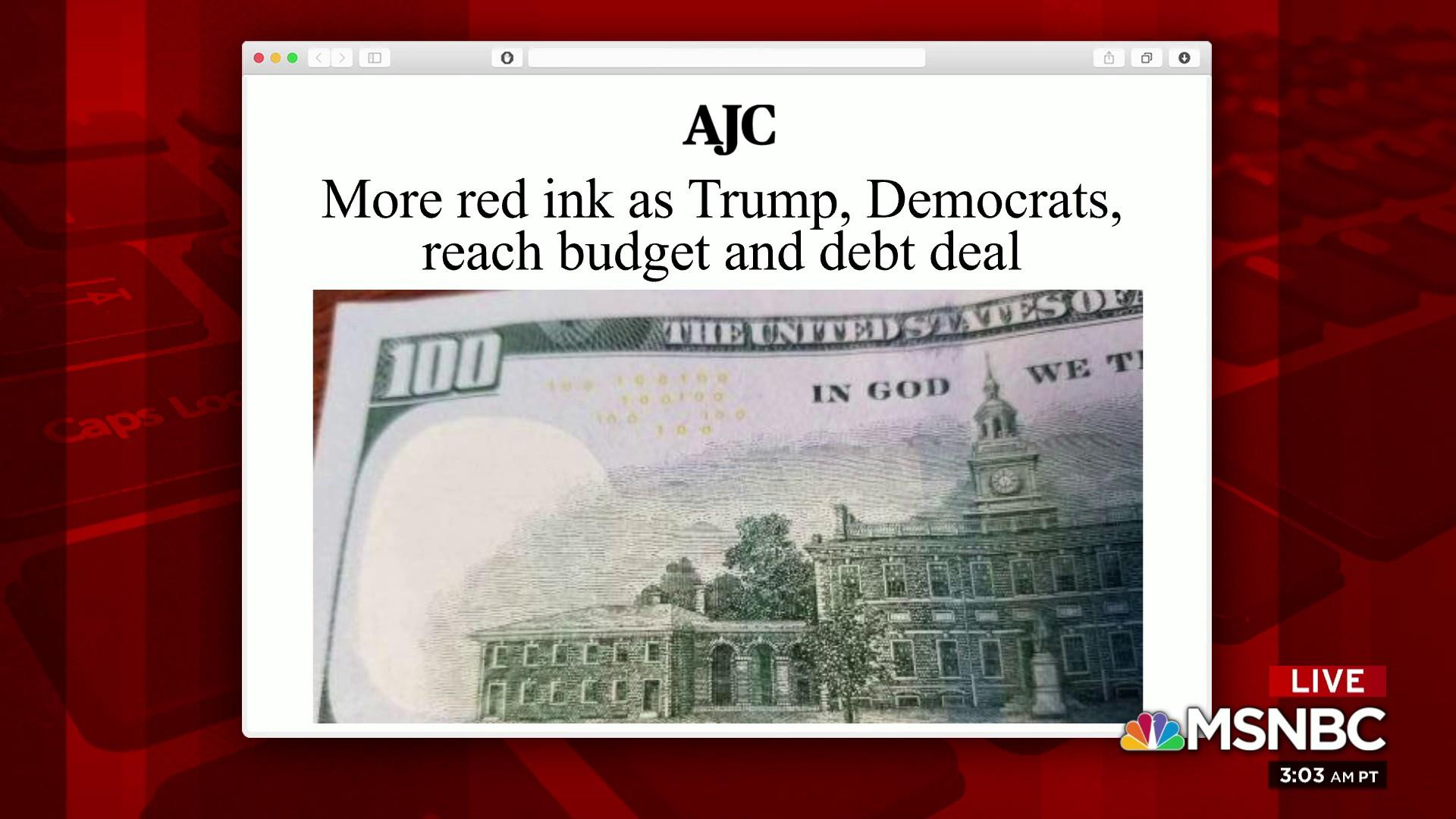 Joe: Trump lying to Americans about paying down debt