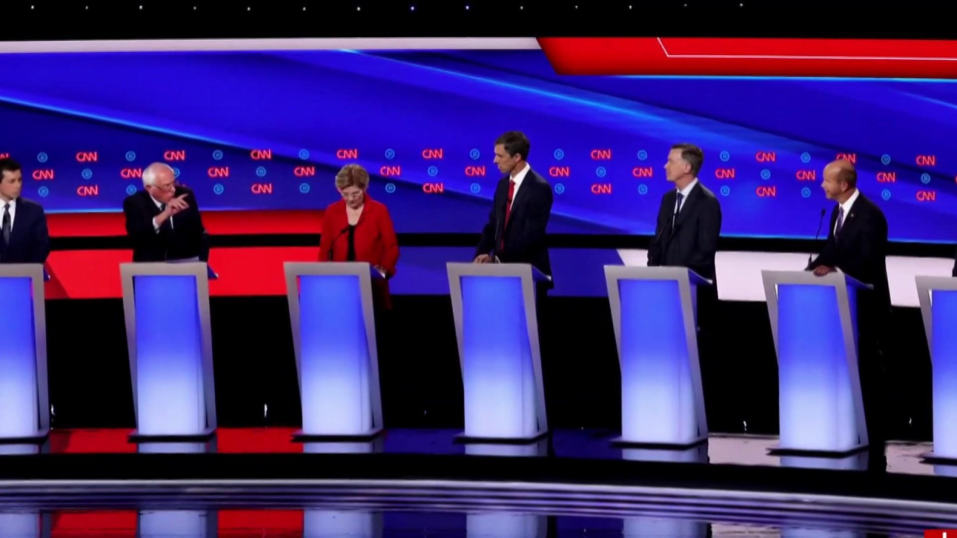Liberals and moderates clash in second Dem debate