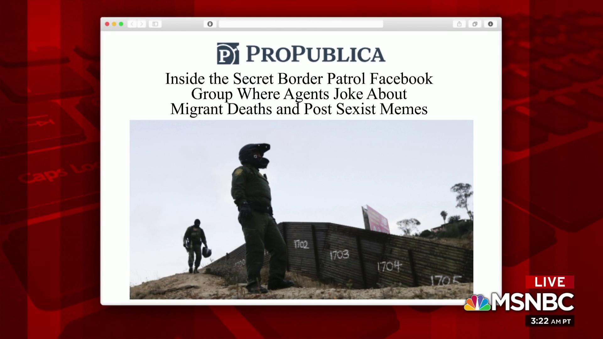 Reporting exposes border patrol 'culture of cruelty'