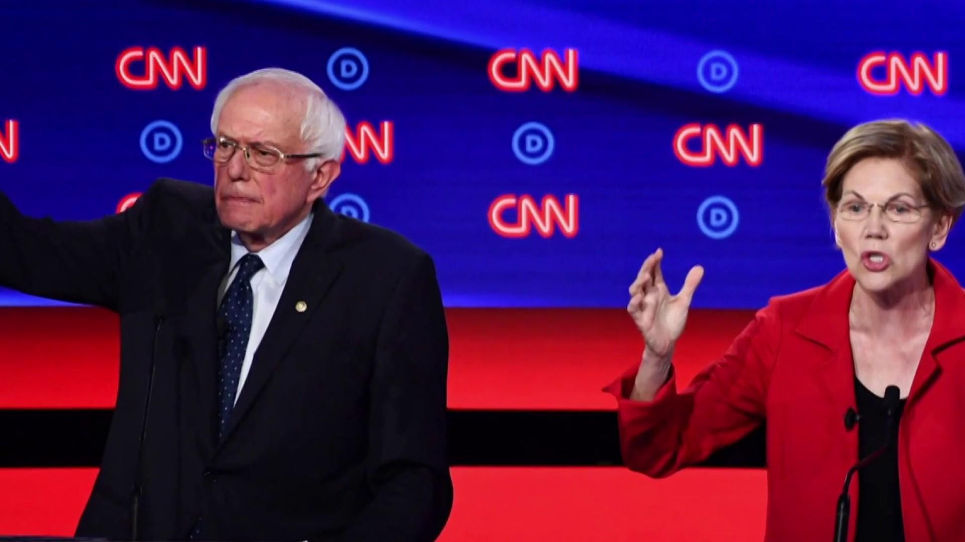 Progressive-moderate split grows at second debate