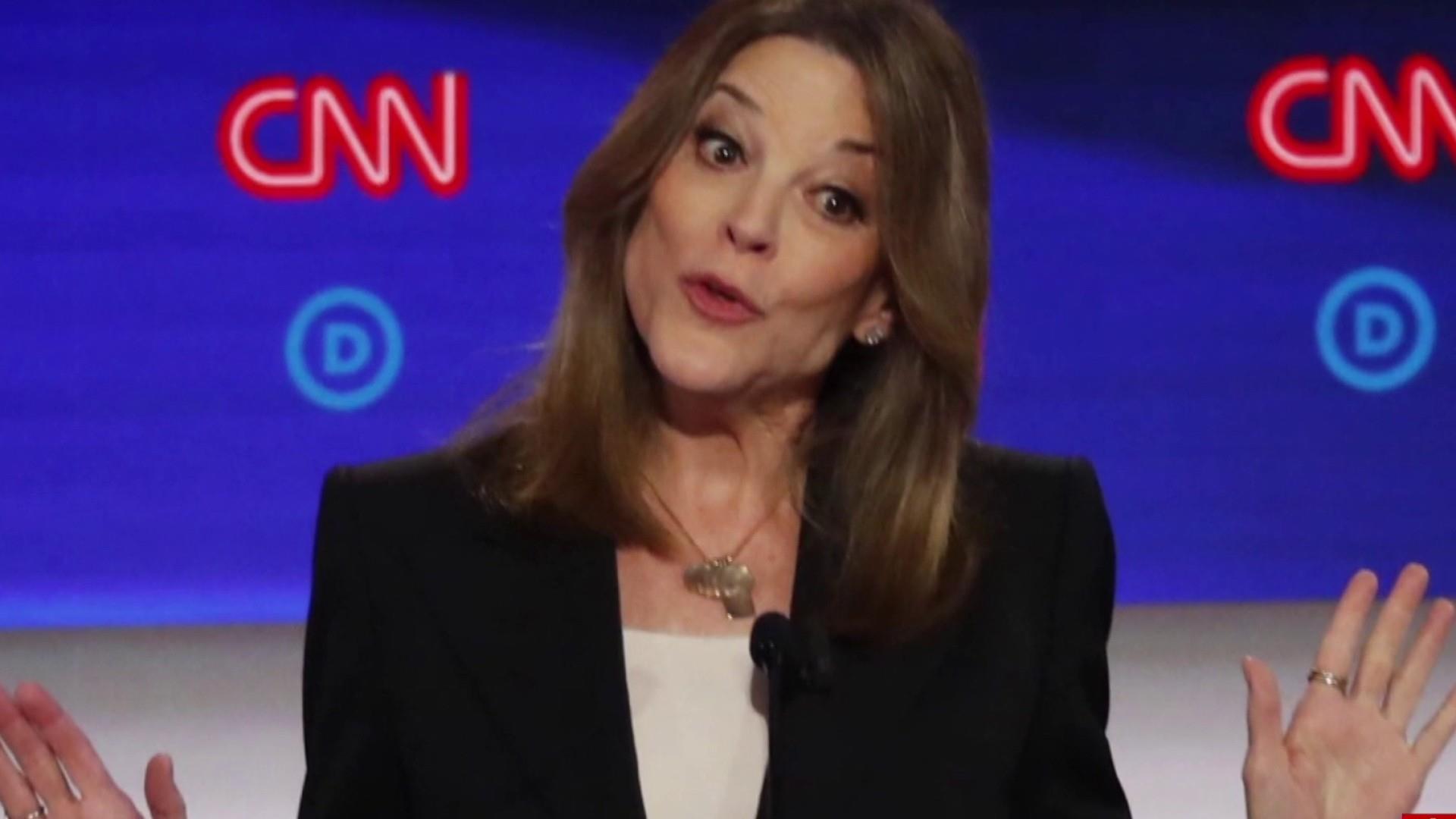 Marianne Williamson makes an impression at debate