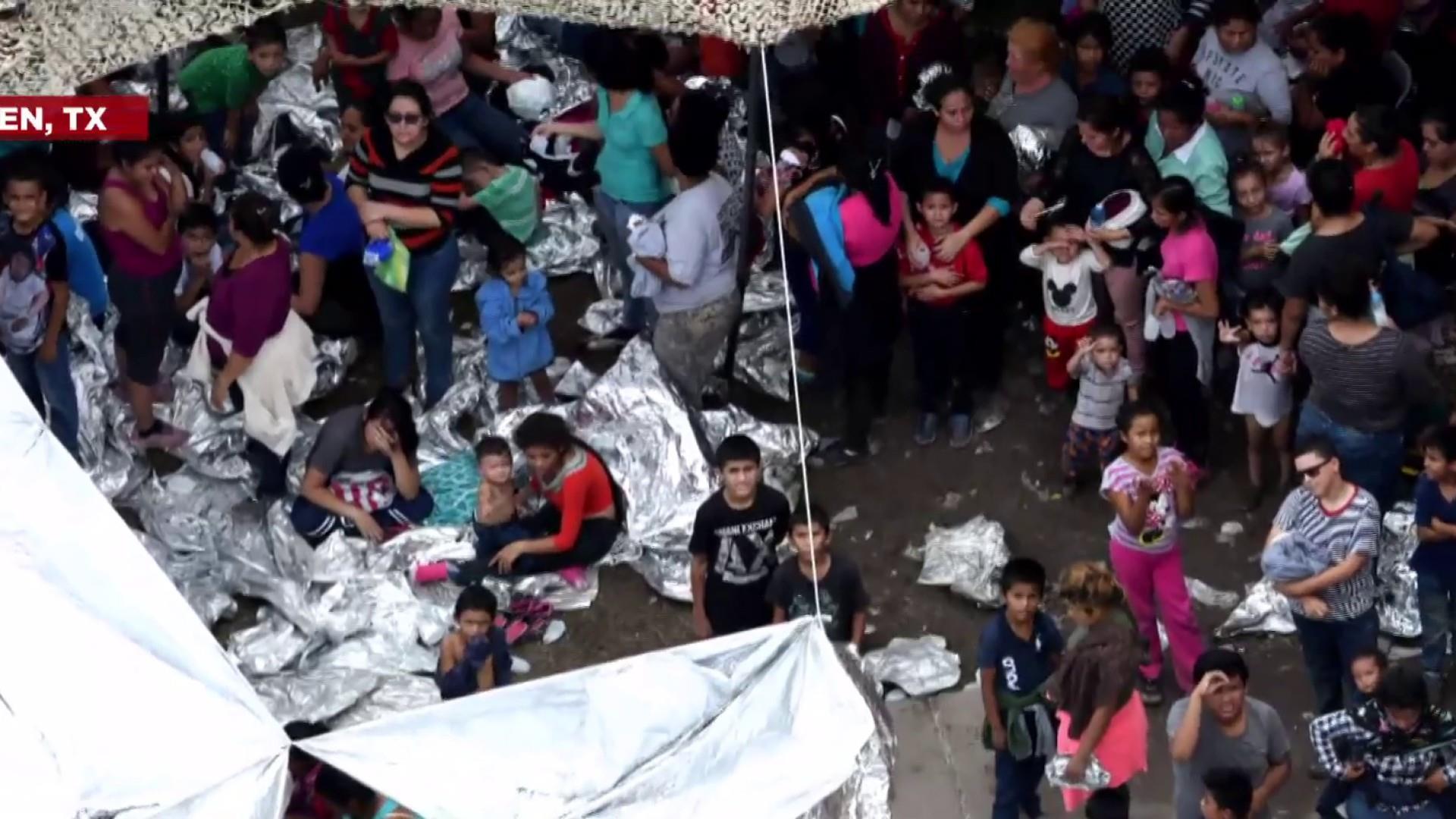 Trump defending conditions migrants are being held in