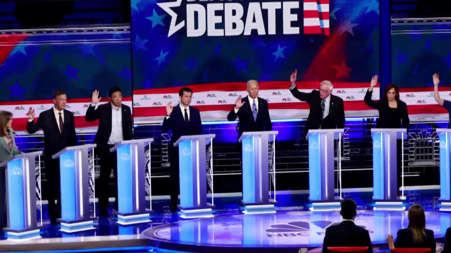 Who will debate whom in second Democratic debate?
