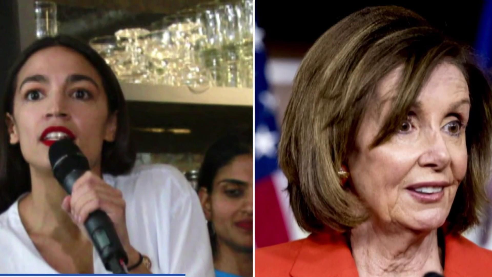 Nancy Pelosi and AOC present a united front after weeks of public tension