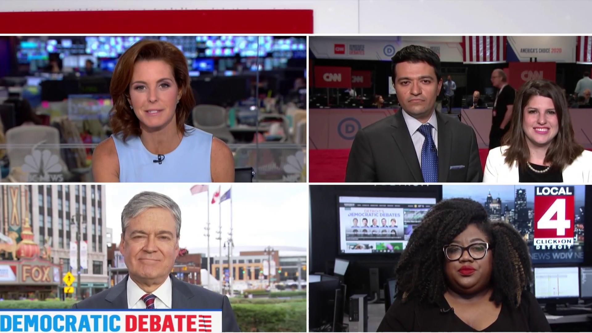 Progressive-moderate split rips wide open at 2nd Dem debate