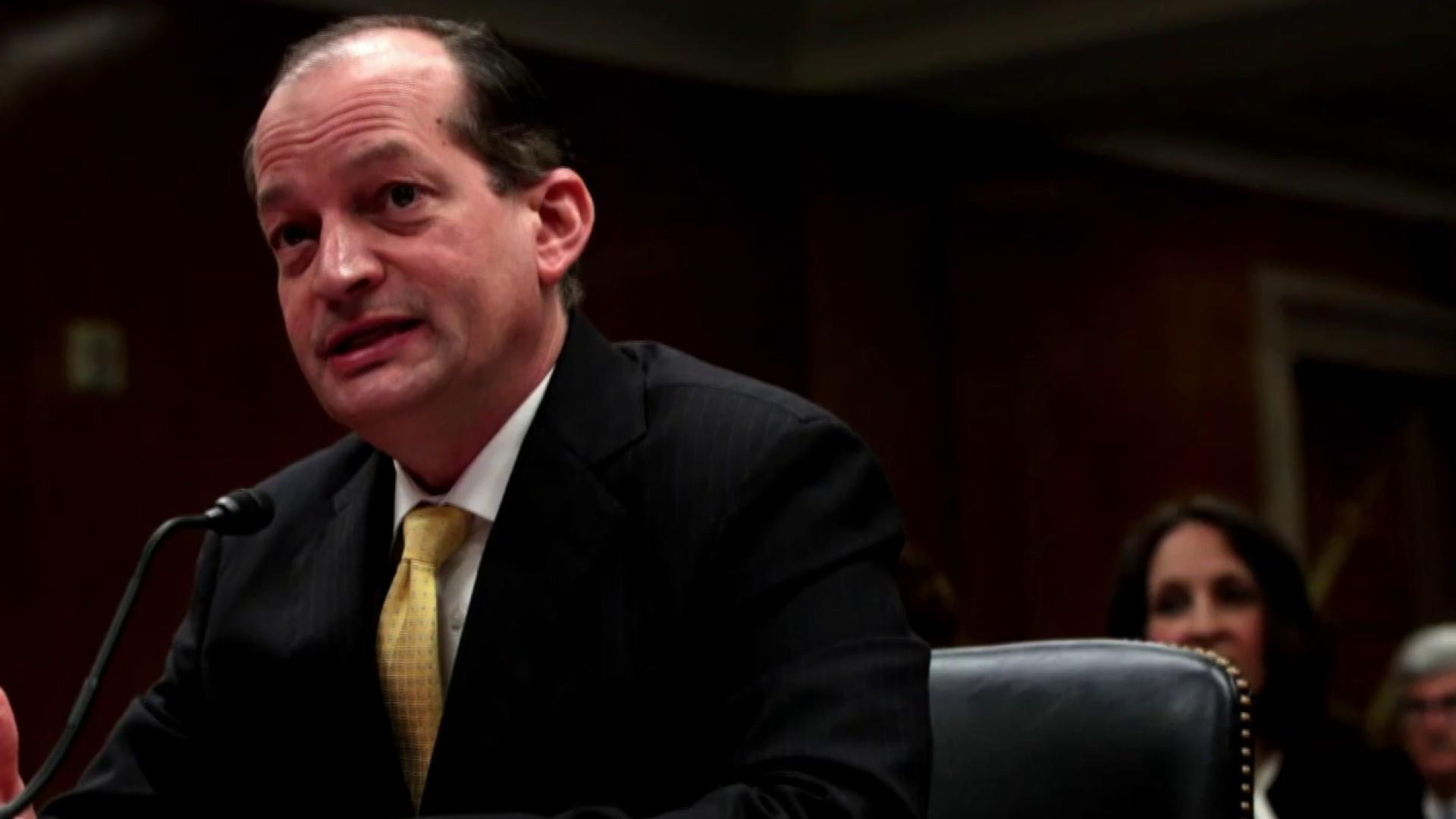Alex Acosta speaking out amid Epstein controversy