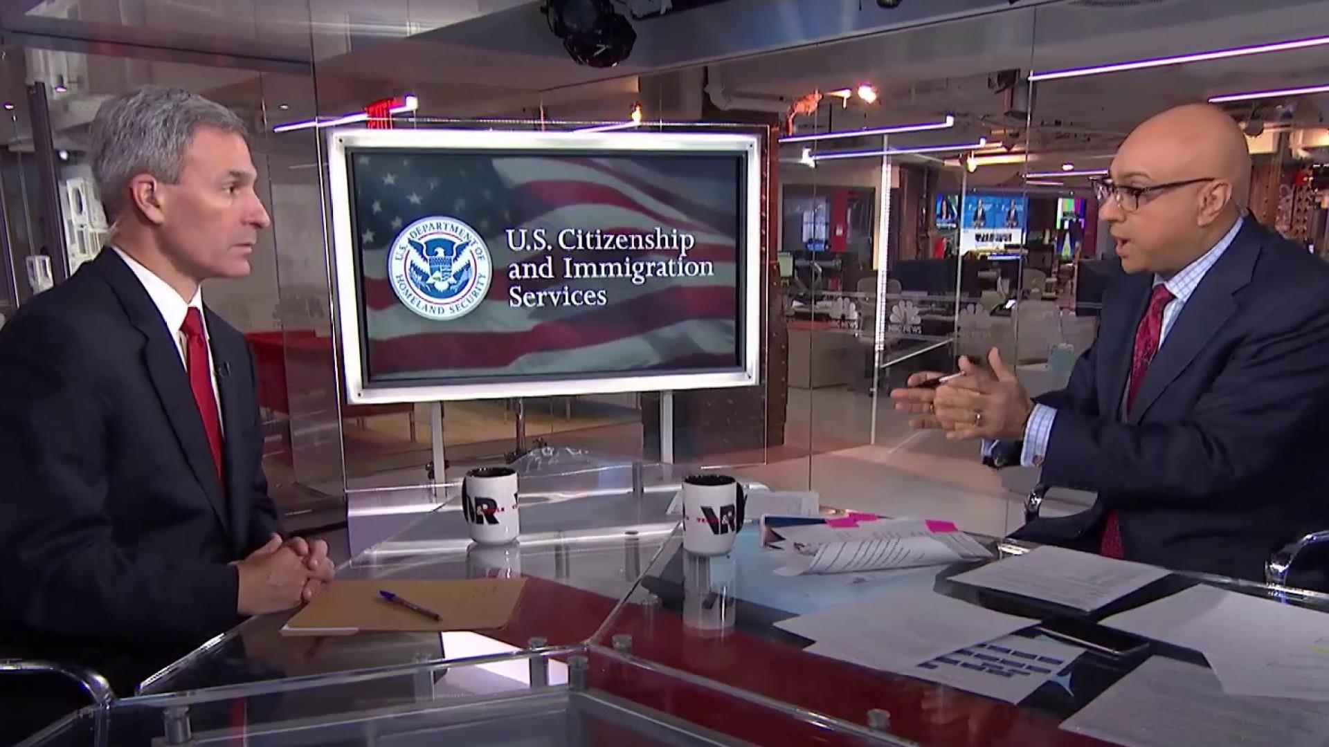 Cuccinelli: There is a clogged pipeline of people seeking asylum
