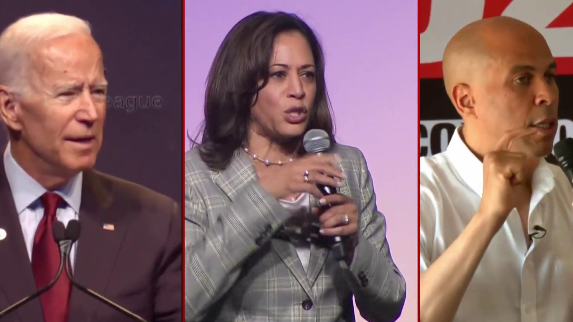 Joe Biden gets tough with Harris and Booker on criminal justice
