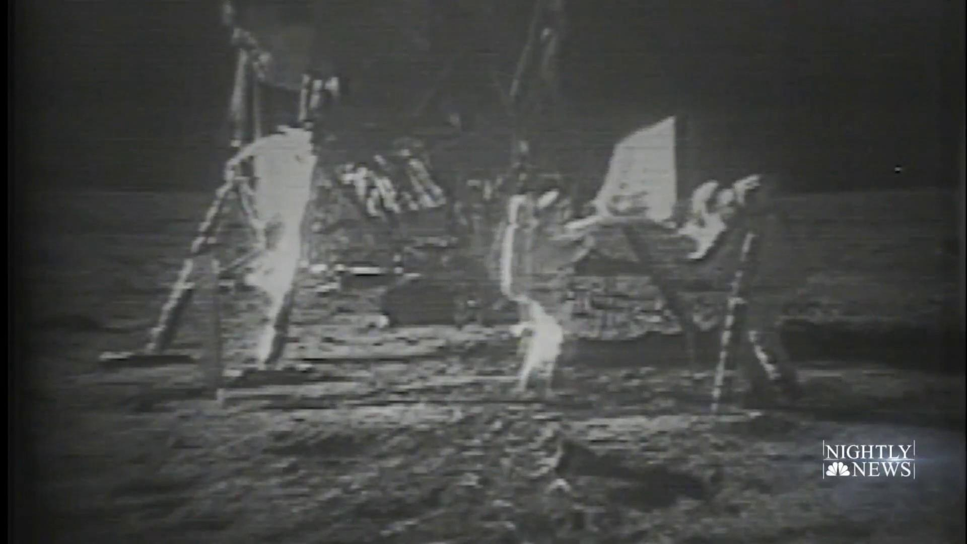 Original recorded footage of the moon landing found
