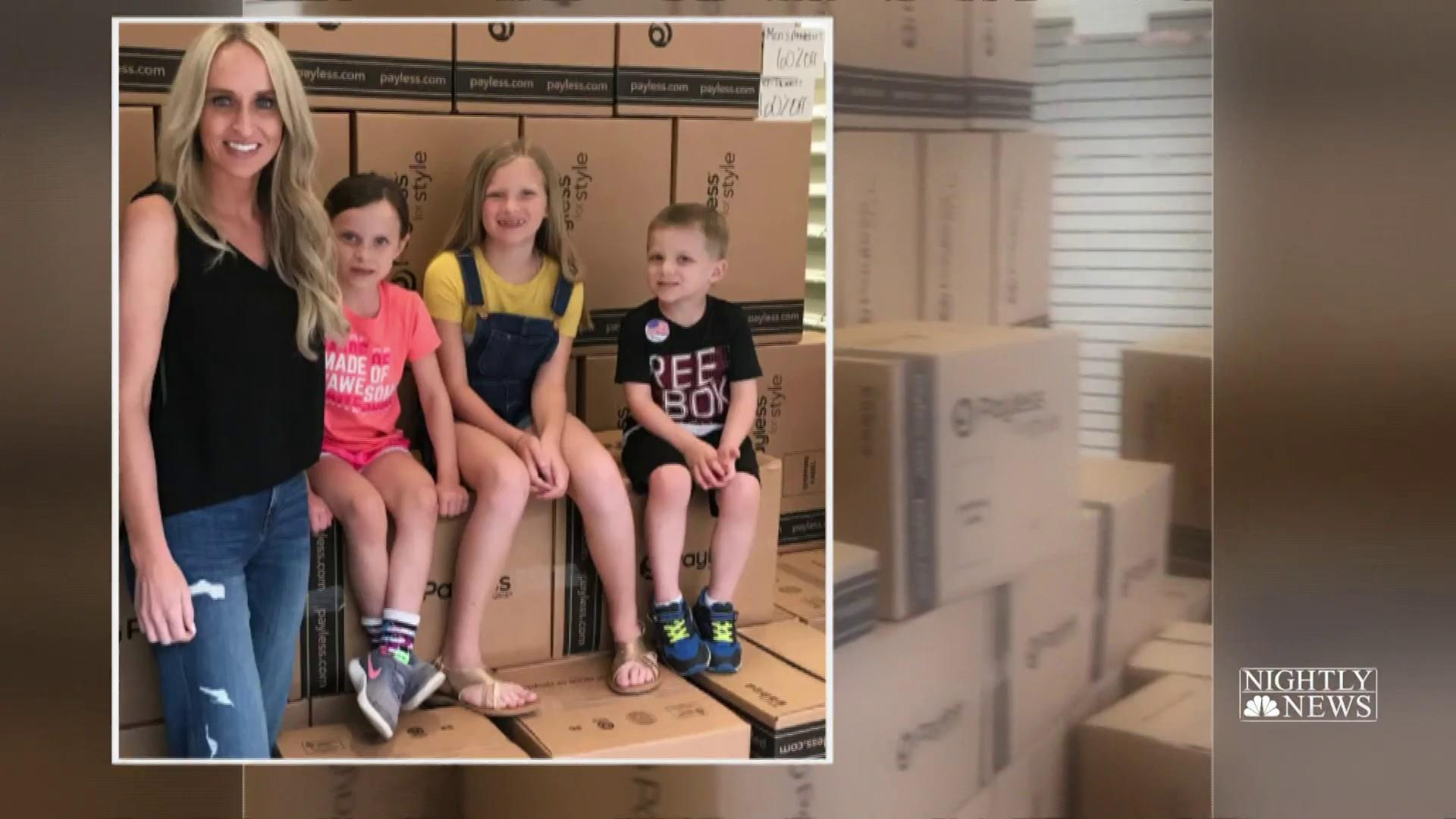 Arkansas mom buys 1,500 pairs of shoes in closing Payless for kids in need