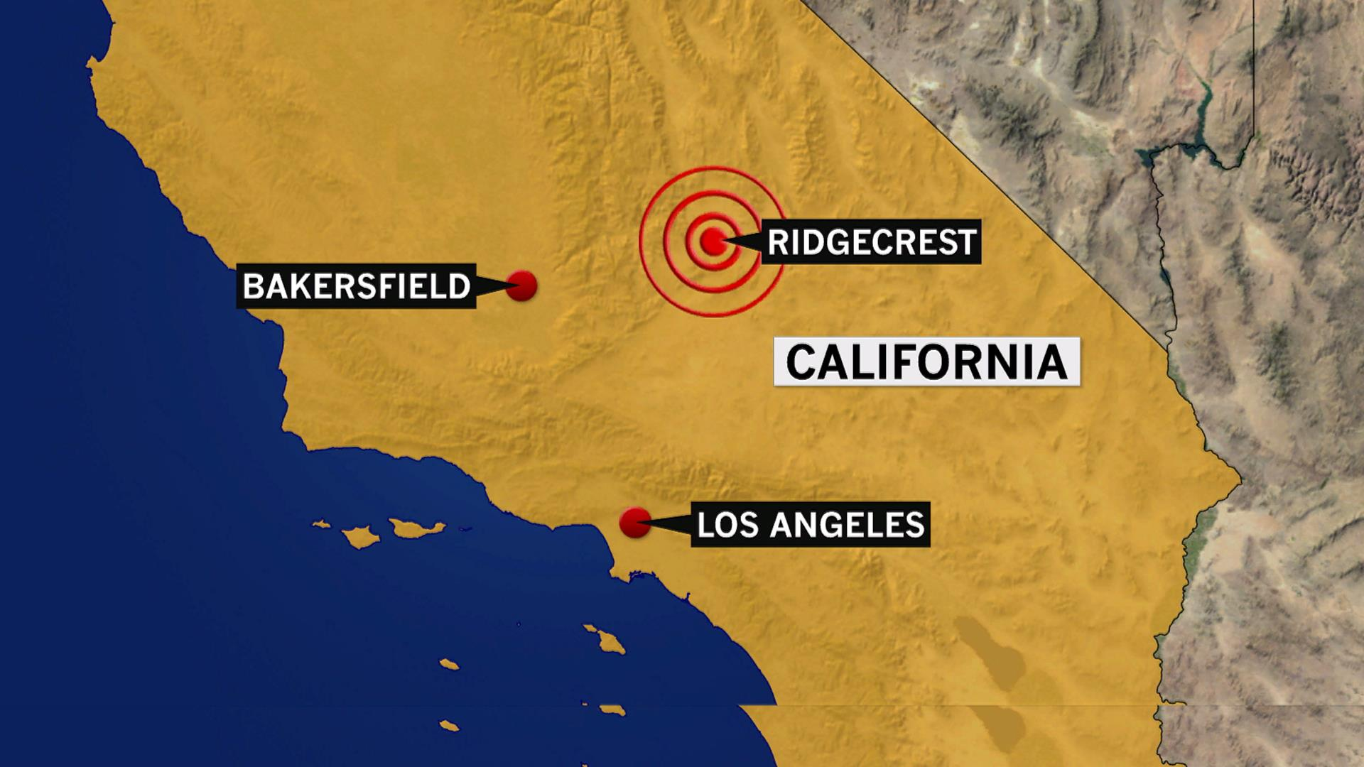 Map Of California Quake.Earthquake With Preliminary 6 4 Magnitude Rattles Southern California