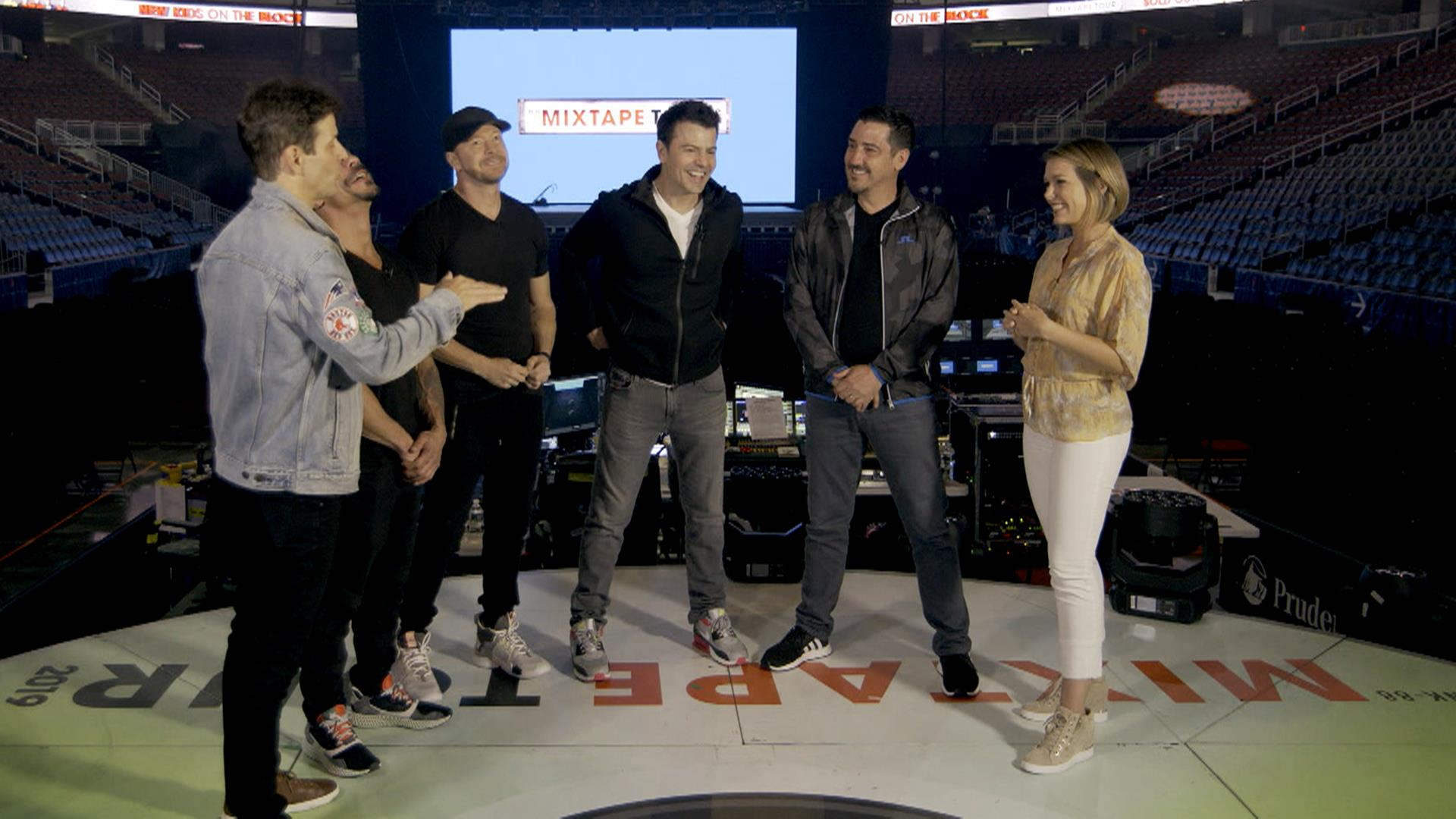 NKOTB give behind-the-scenes look at 'Mixtape Tour'