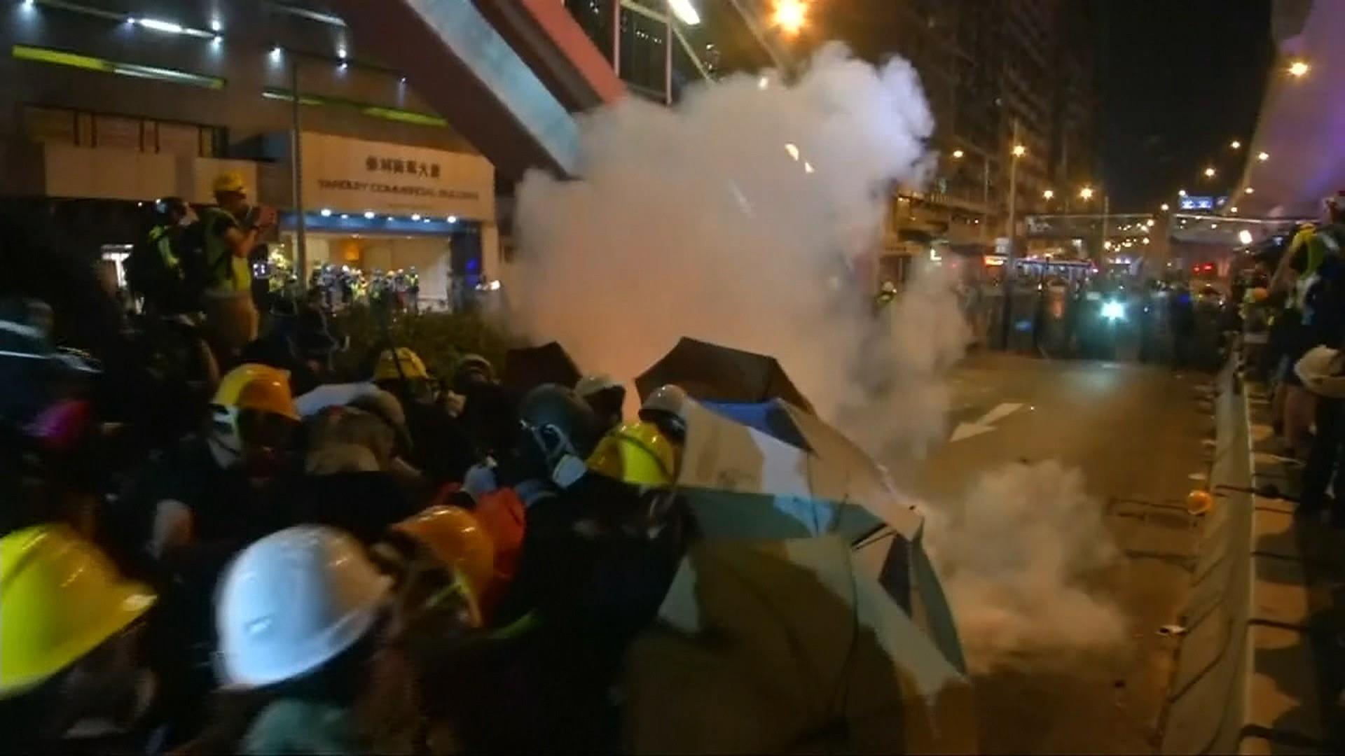 Masked assailants attack protesters in Hong Kong