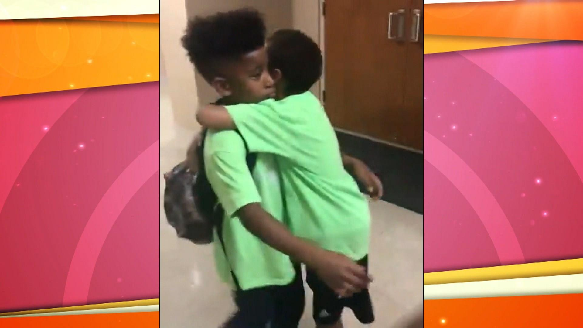 Watch sweet kids' emotional goodbye on last day of camp
