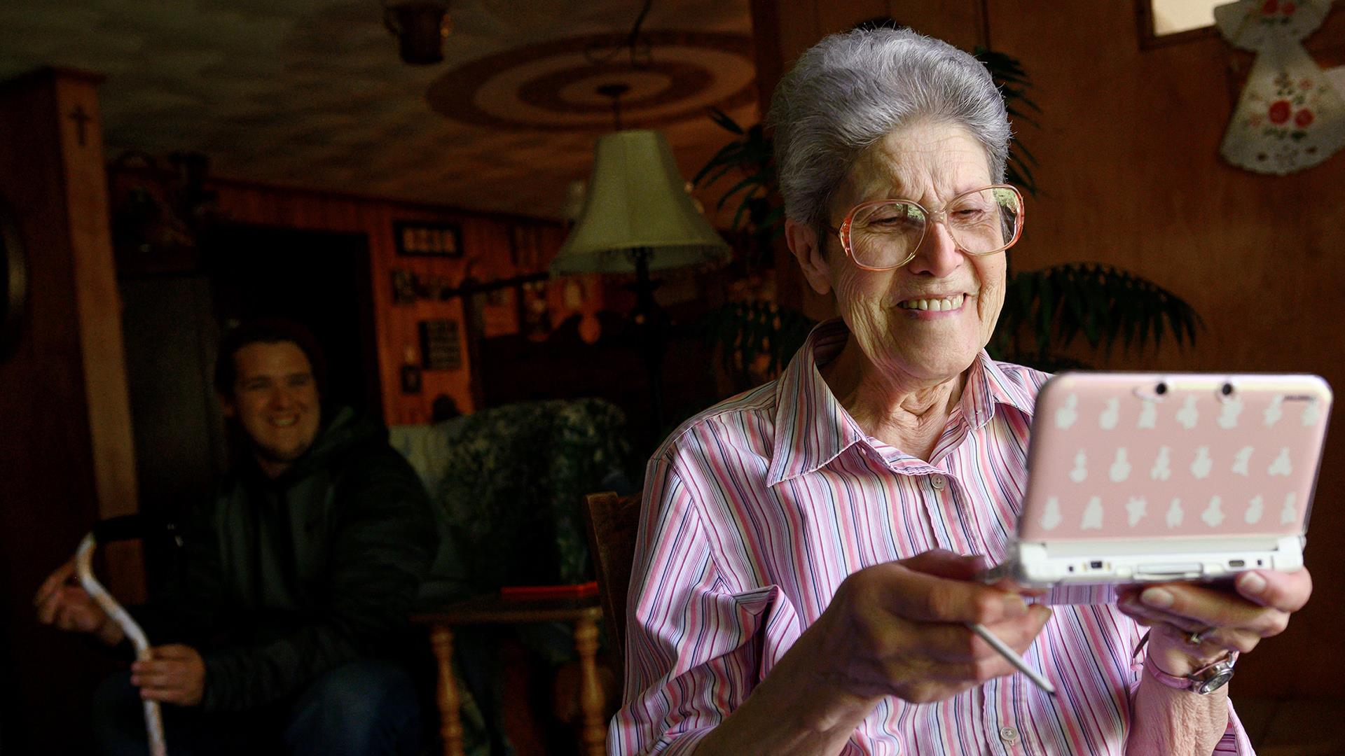 Older people are embracing video games. For some, that means stardom.
