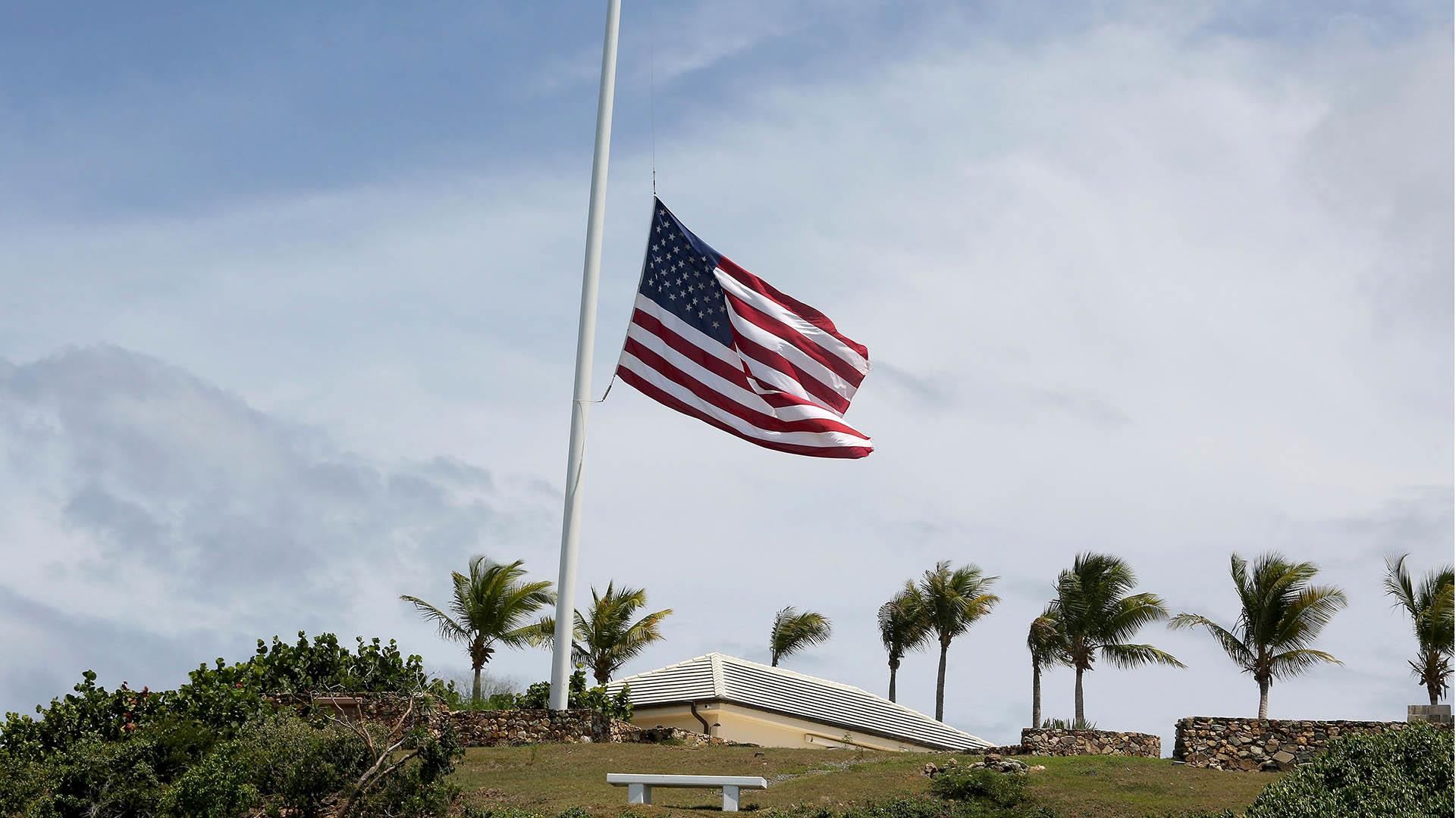 American flags on Jeffrey Epstein's private islands lowered to half-staff