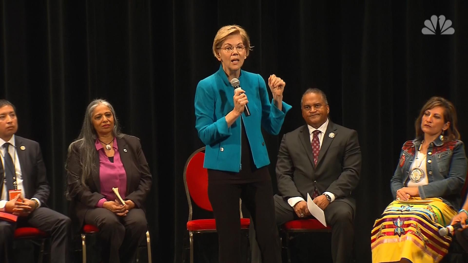 Elizabeth Warren apologizes to Native Americans during presidential forum