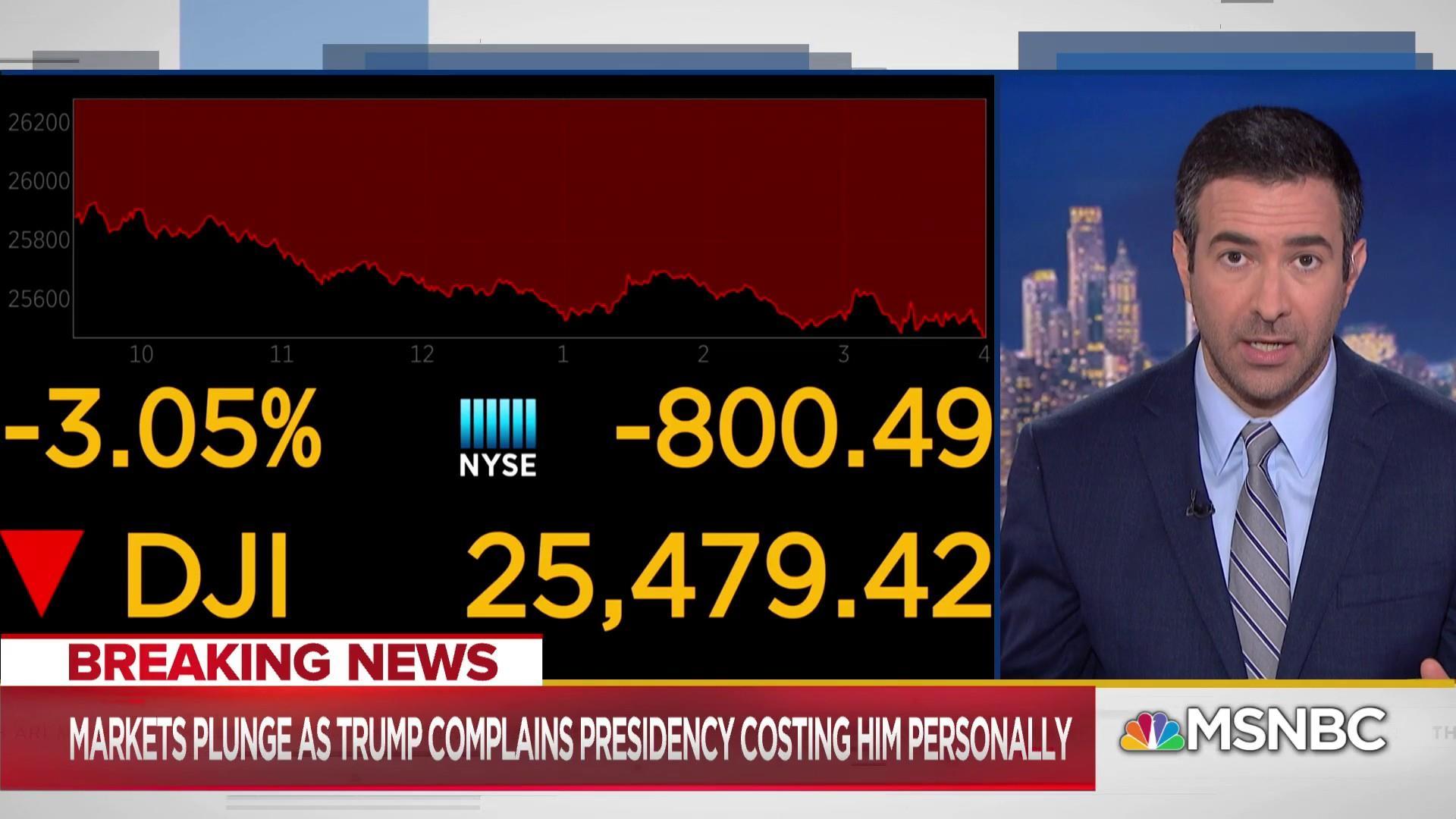 Trump battles self-made crises as markets tumble