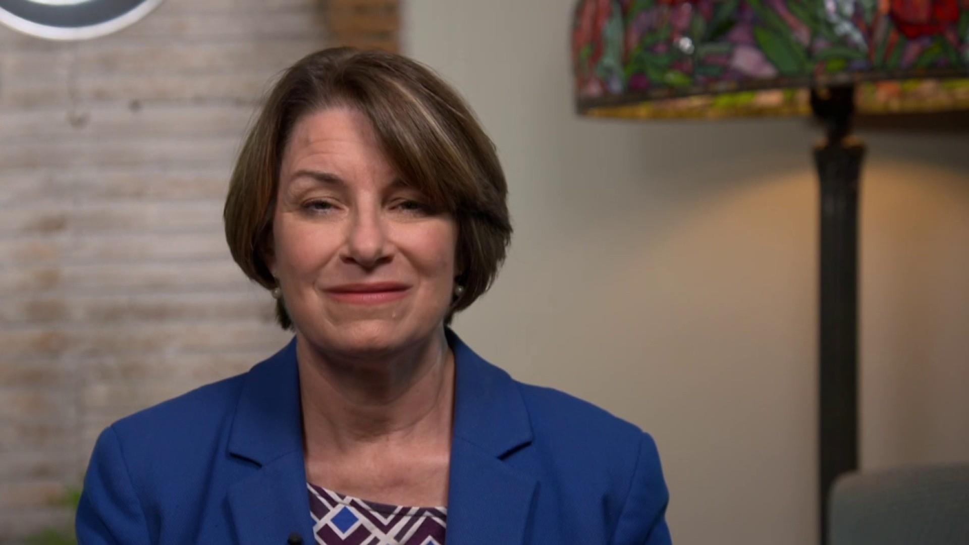 Amy Klobuchar: Trump is afraid of the NRA