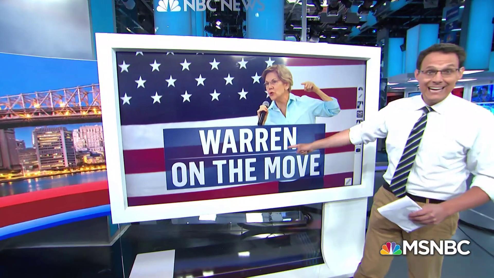 Elizabeth Warren on the rise in latest polling