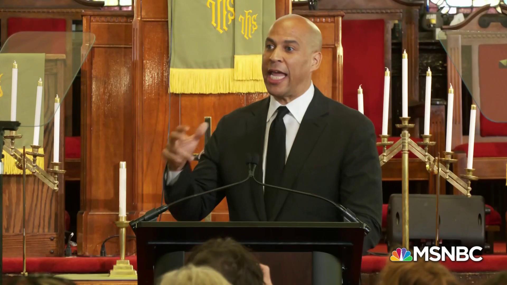 Booker, Biden rail against racism and Trump rhetoric