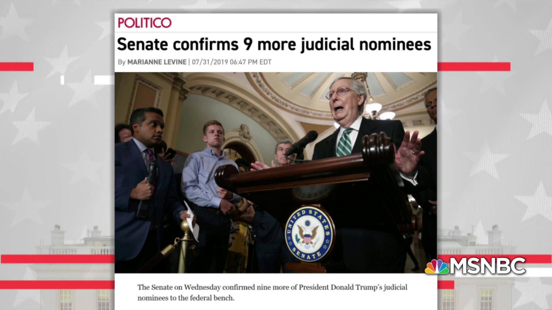 McConnell reshaping U.S. with right-wing judge approvals