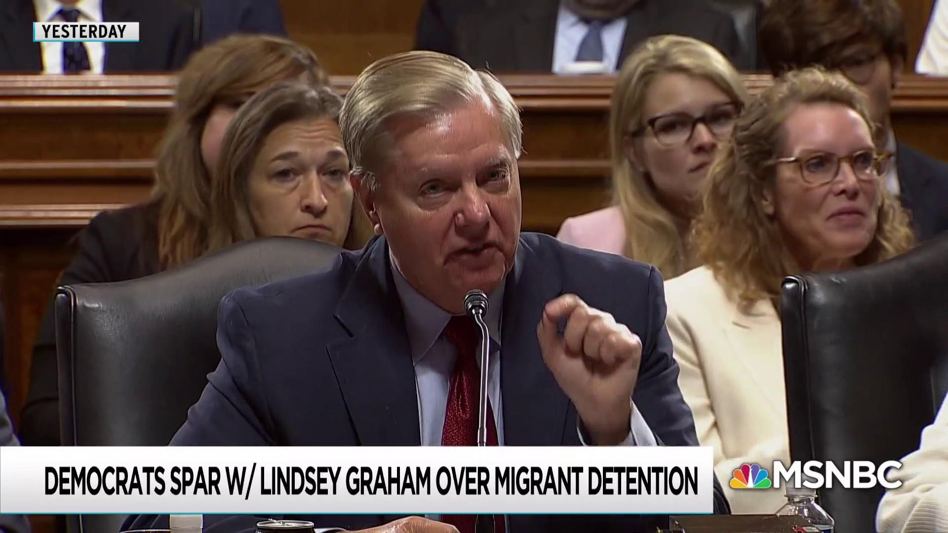 Democratic pushback on Trump-pleasing stunt puts Graham in a snit