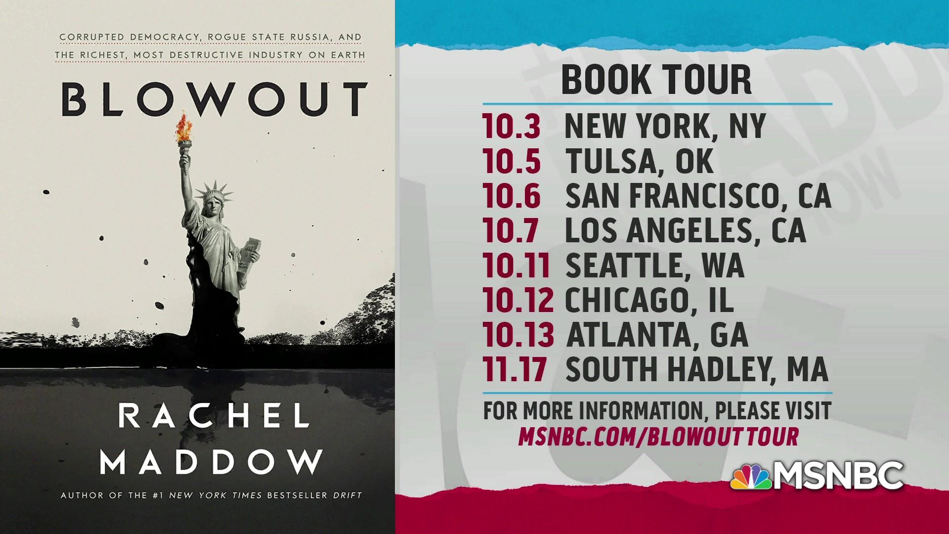 Blowout book tour dates and locations announced!