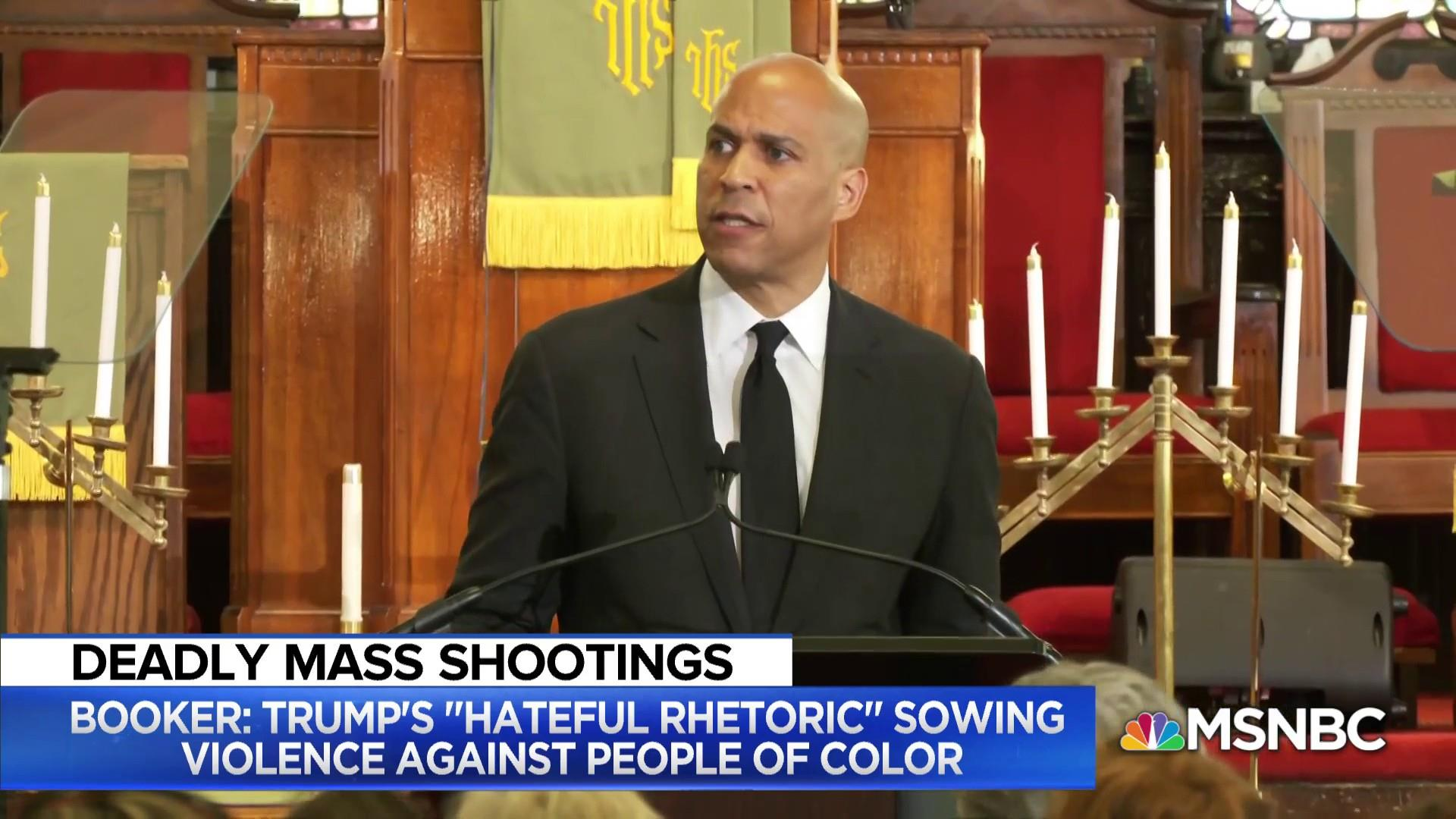 Booker: 'Anti-Latino hatred didn't start with the hand that pulled the trigger'