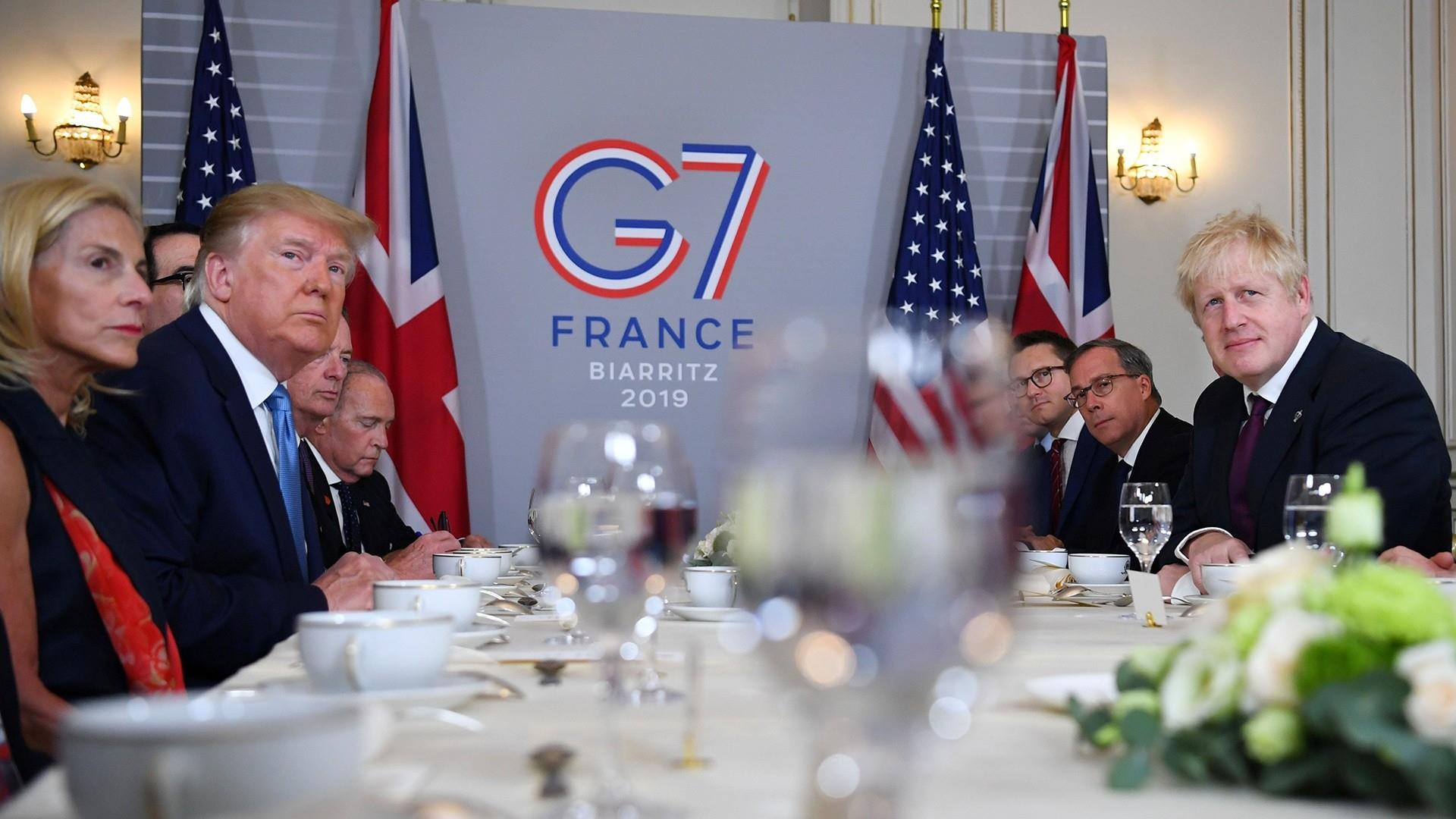 Trump says world leaders 'getting along very well' at G-7 summit despite trade tensions