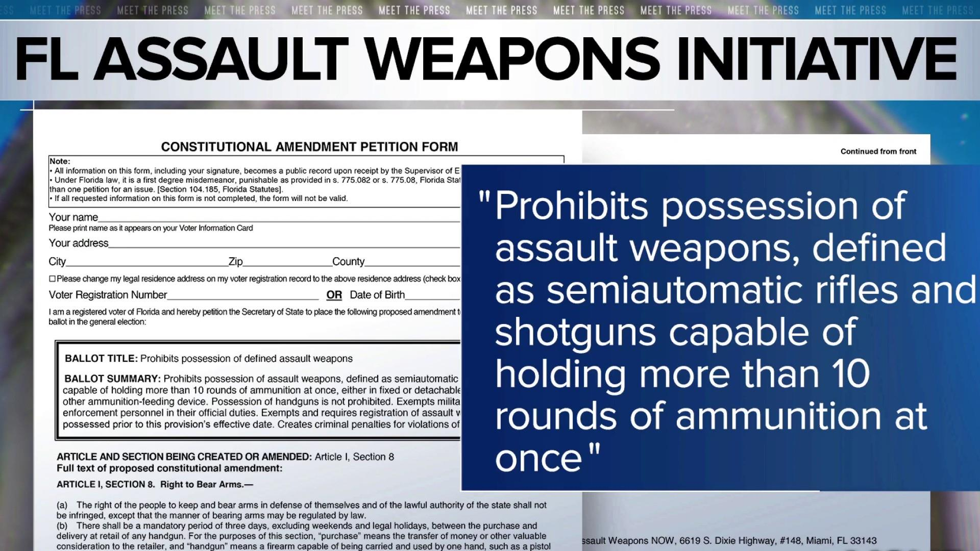 Florida activists push for assault weapons ban on 2020 ballot