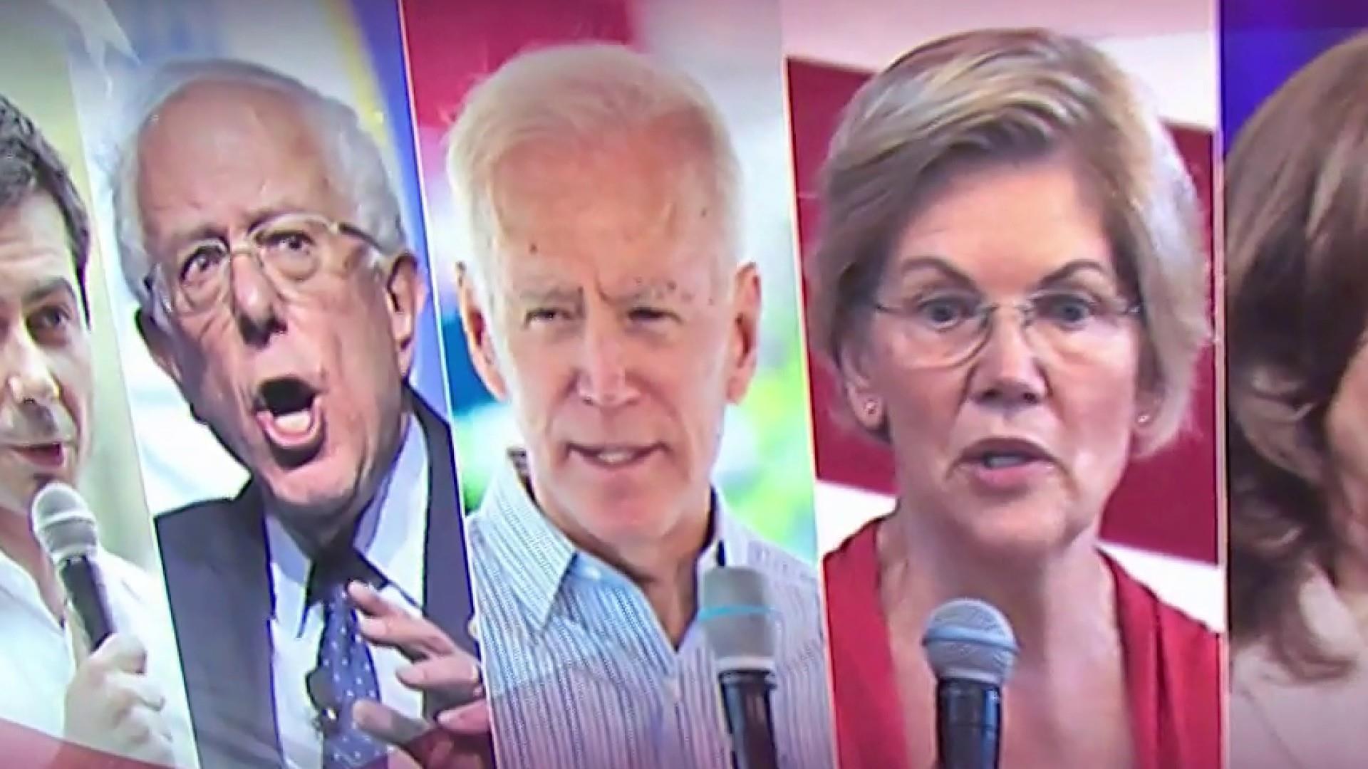 Joe Biden, Bernie Sanders, and Elizabeth Warren to share debate stage for the first time