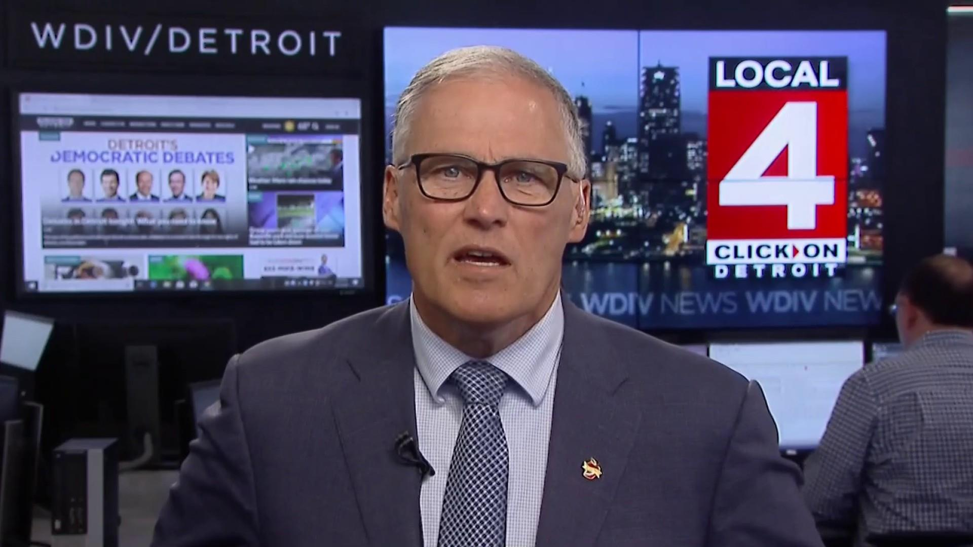 Governor Jay Inslee on debate topics and his strategy