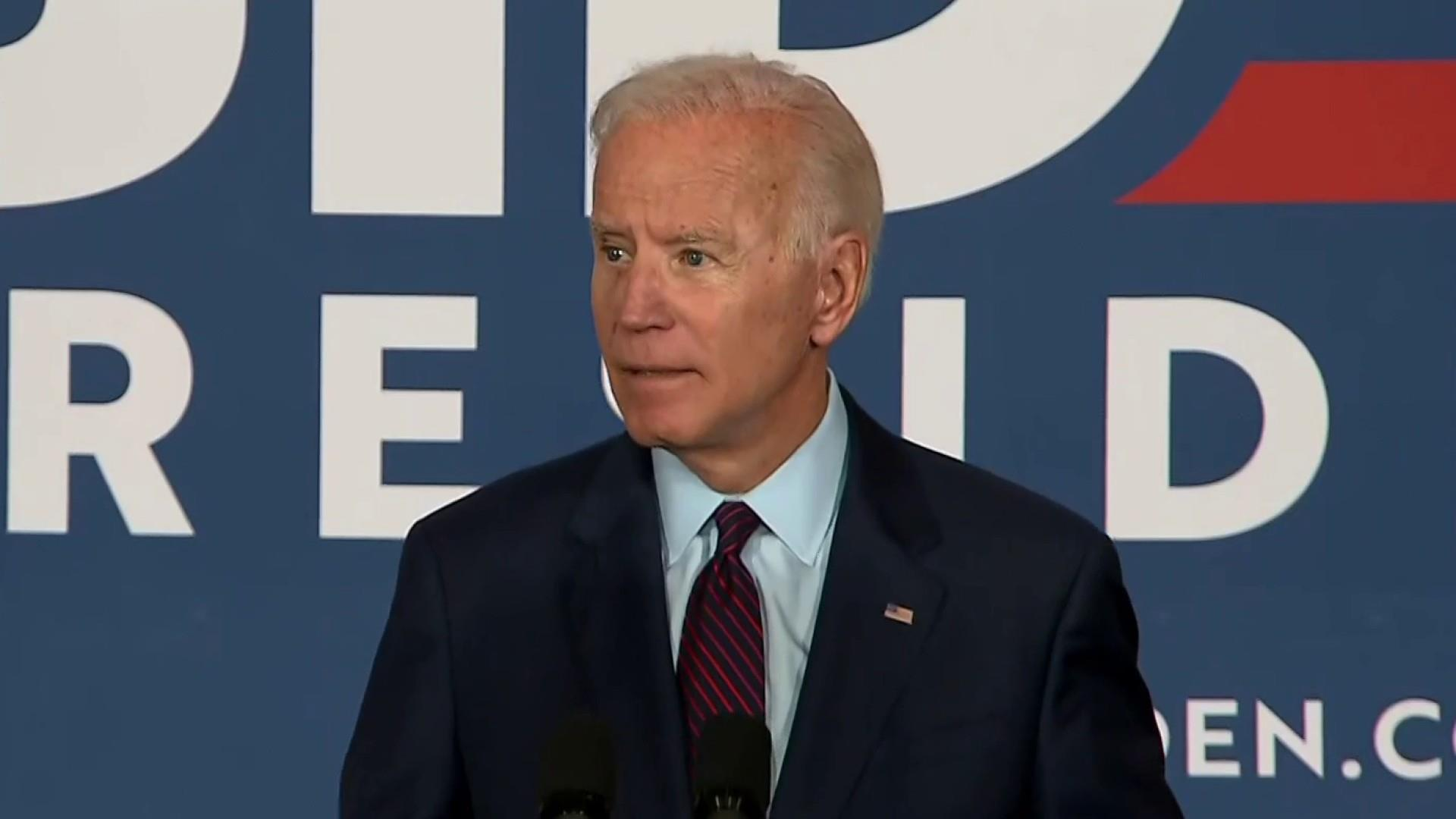 Biden calls out Trump for lack of 'moral leadership'