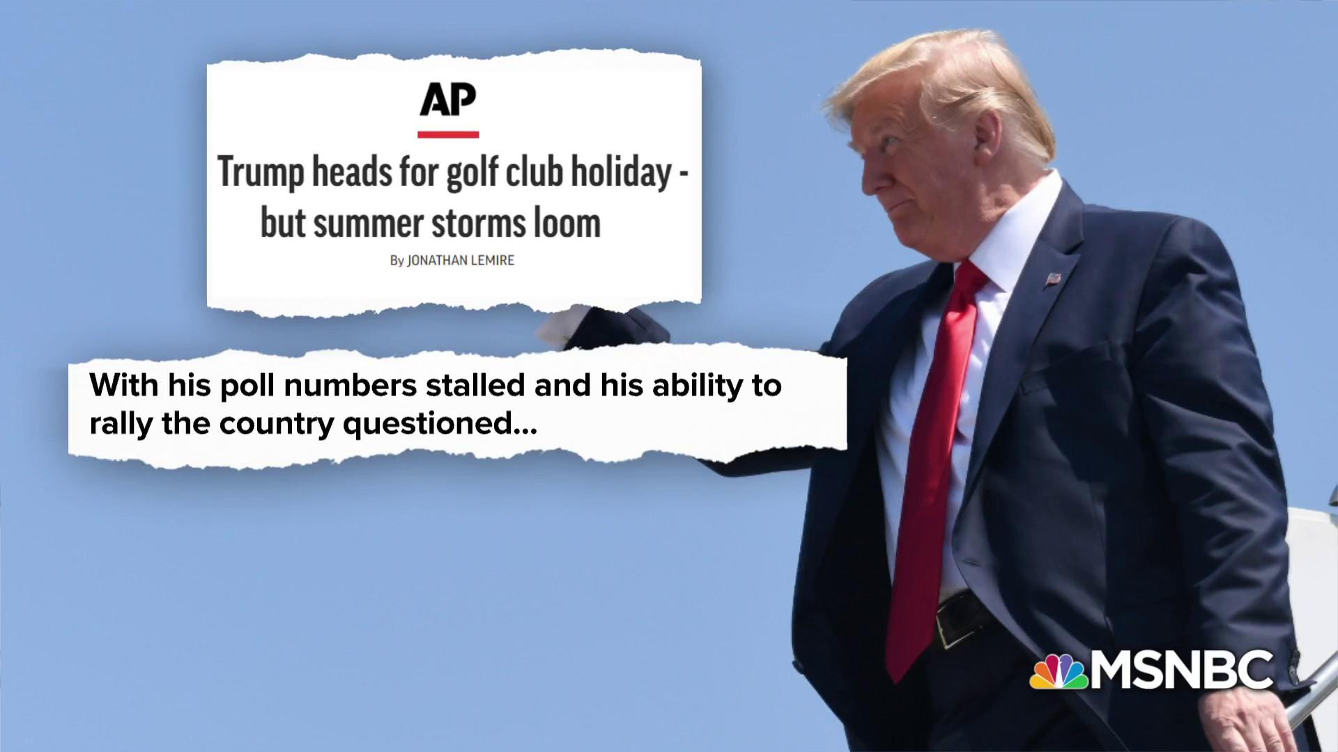 Golf, Twitter, and cable news. What could go wrong?