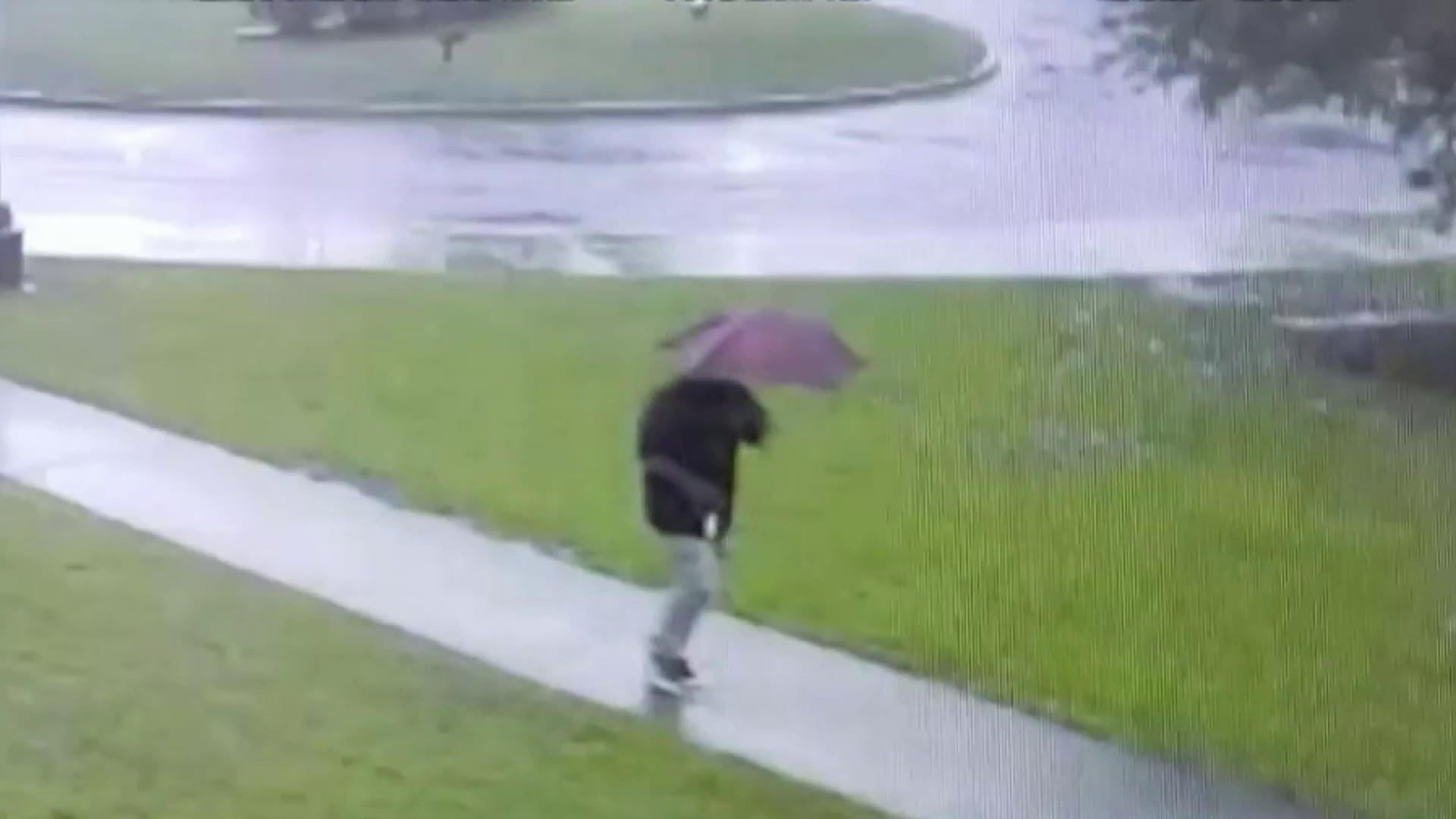 Man speaks out after close call with lightning strike