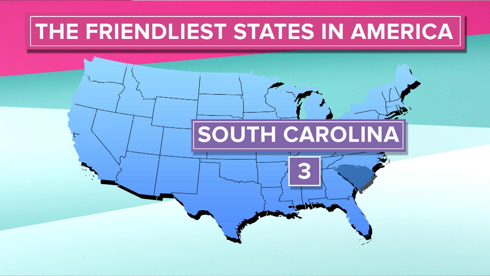 These are the friendliest states in the US