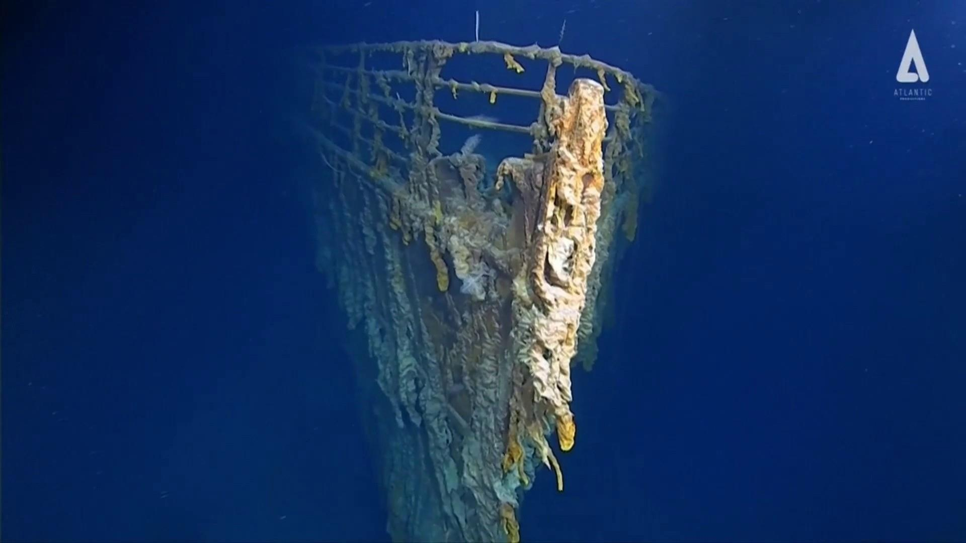 New Titanic photos reveal sunken ship wrecked by ocean