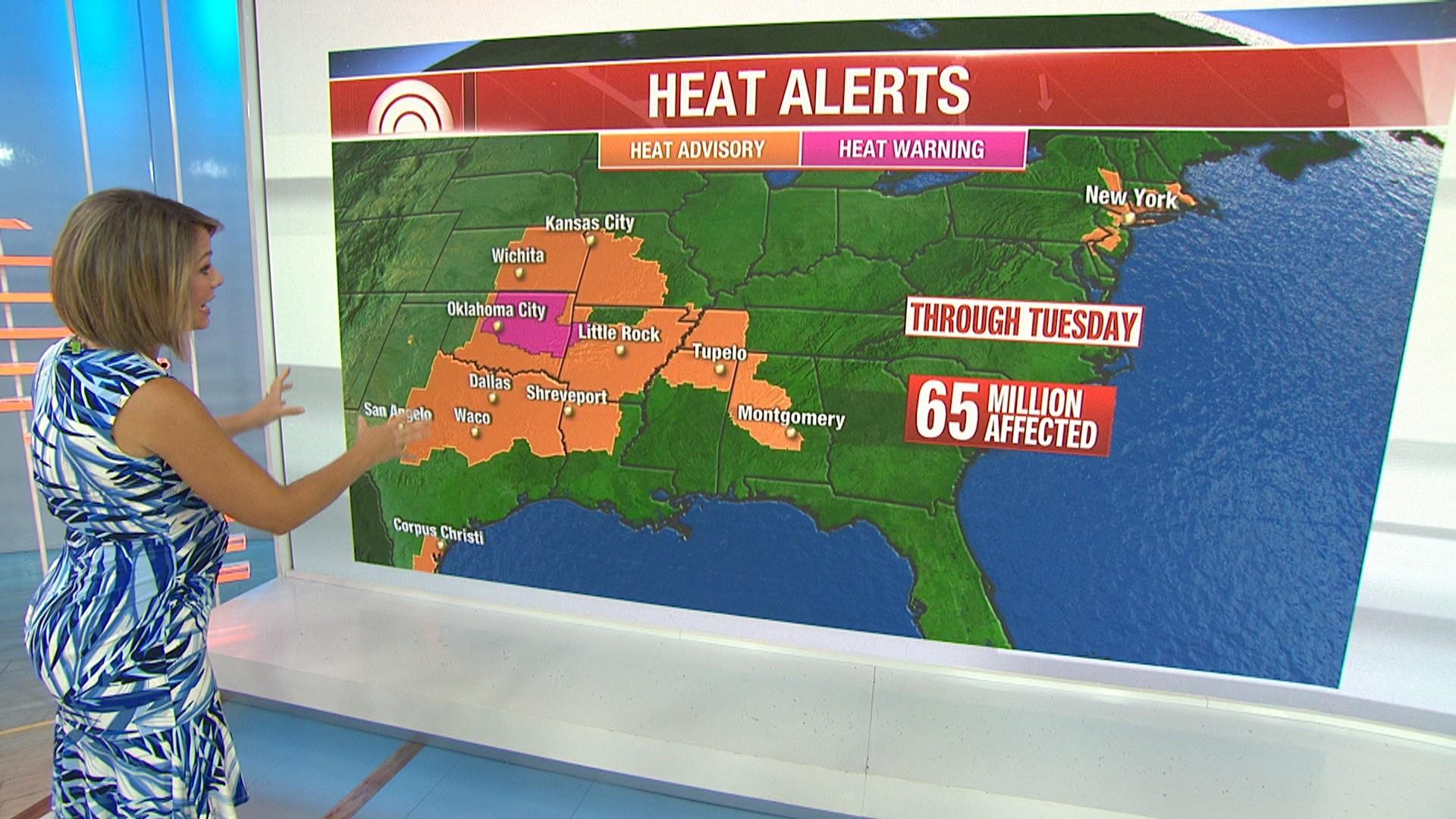 Dangerous heat wave from Texas to New England