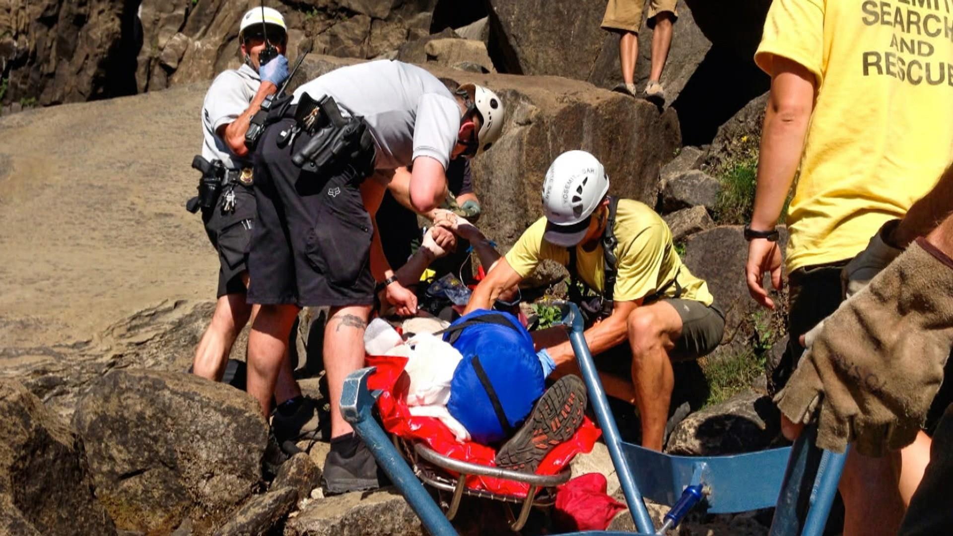 Yosemite tourist falls to death after slipping near waterfall