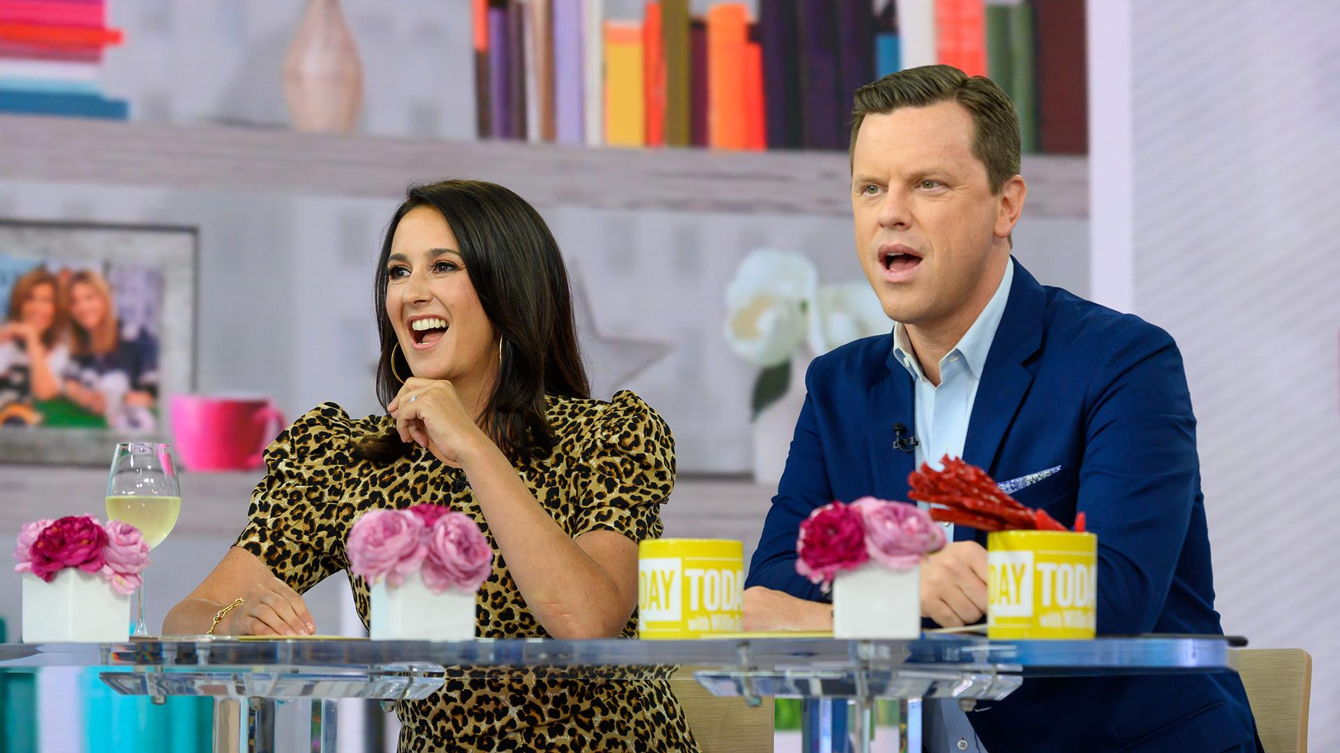 Watch Willie Geist and wife Christina compare their old TV reels