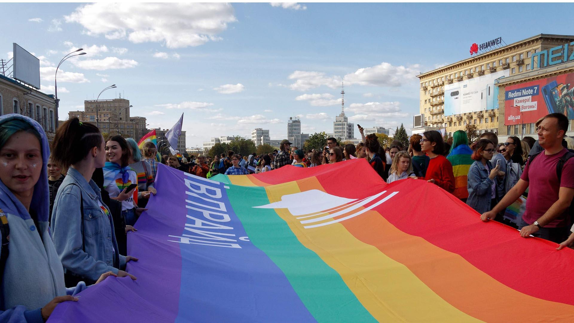 LGBT march attacked by far-right activists in Kharkiv, Ukraine
