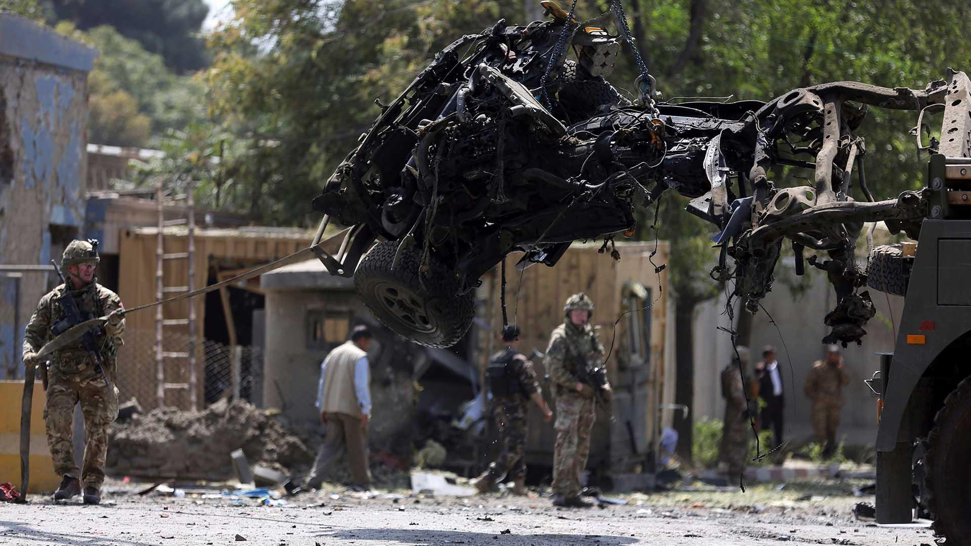 U.S. service member killed in Taliban suicide bombing near American Embassy in Kabul