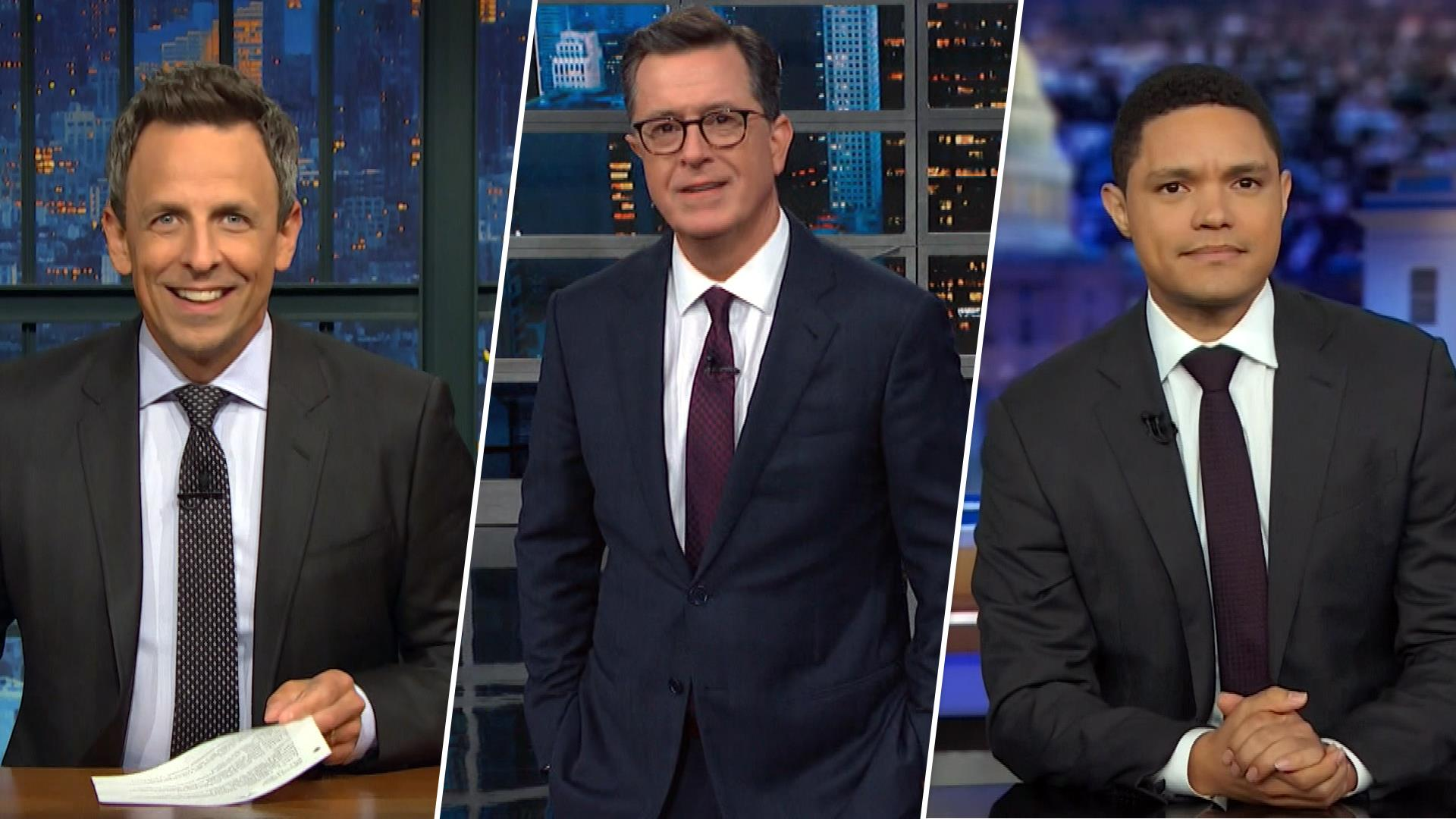 Watch late night comedians take on Trump impeachment inquiry