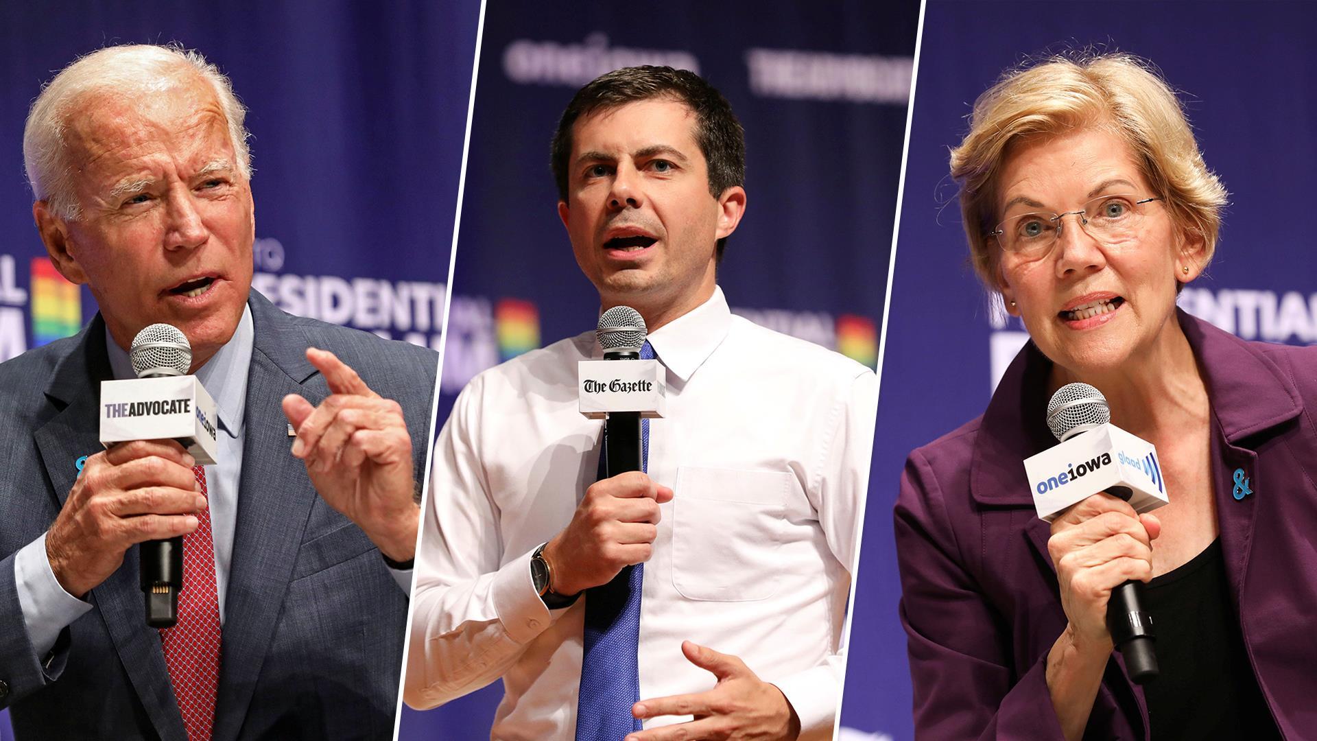 Democratic 2020 hopefuls tout their pride at Iowa LGBTQ forum