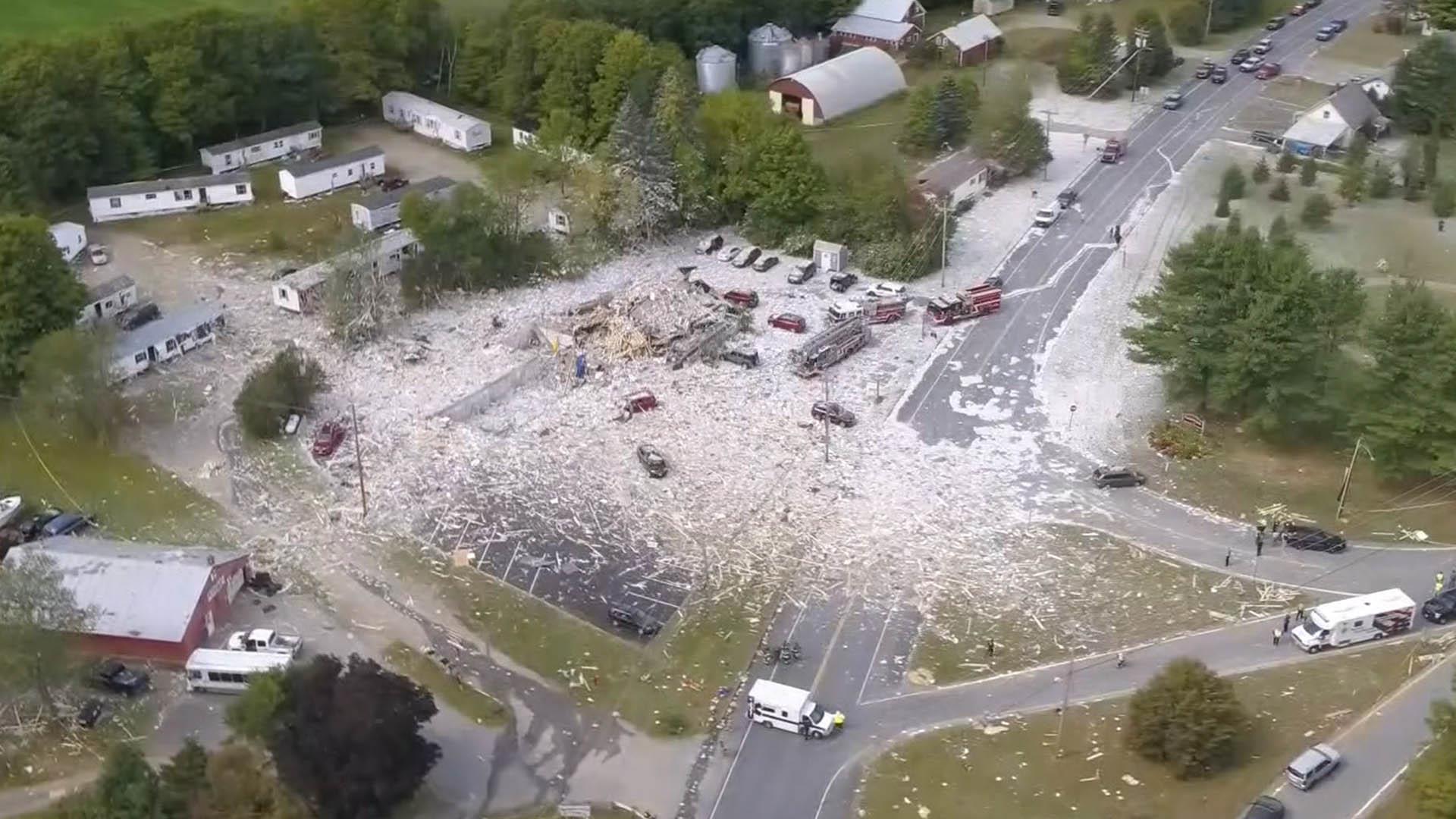 Aerials show 'total devastation' of Maine gas explosion