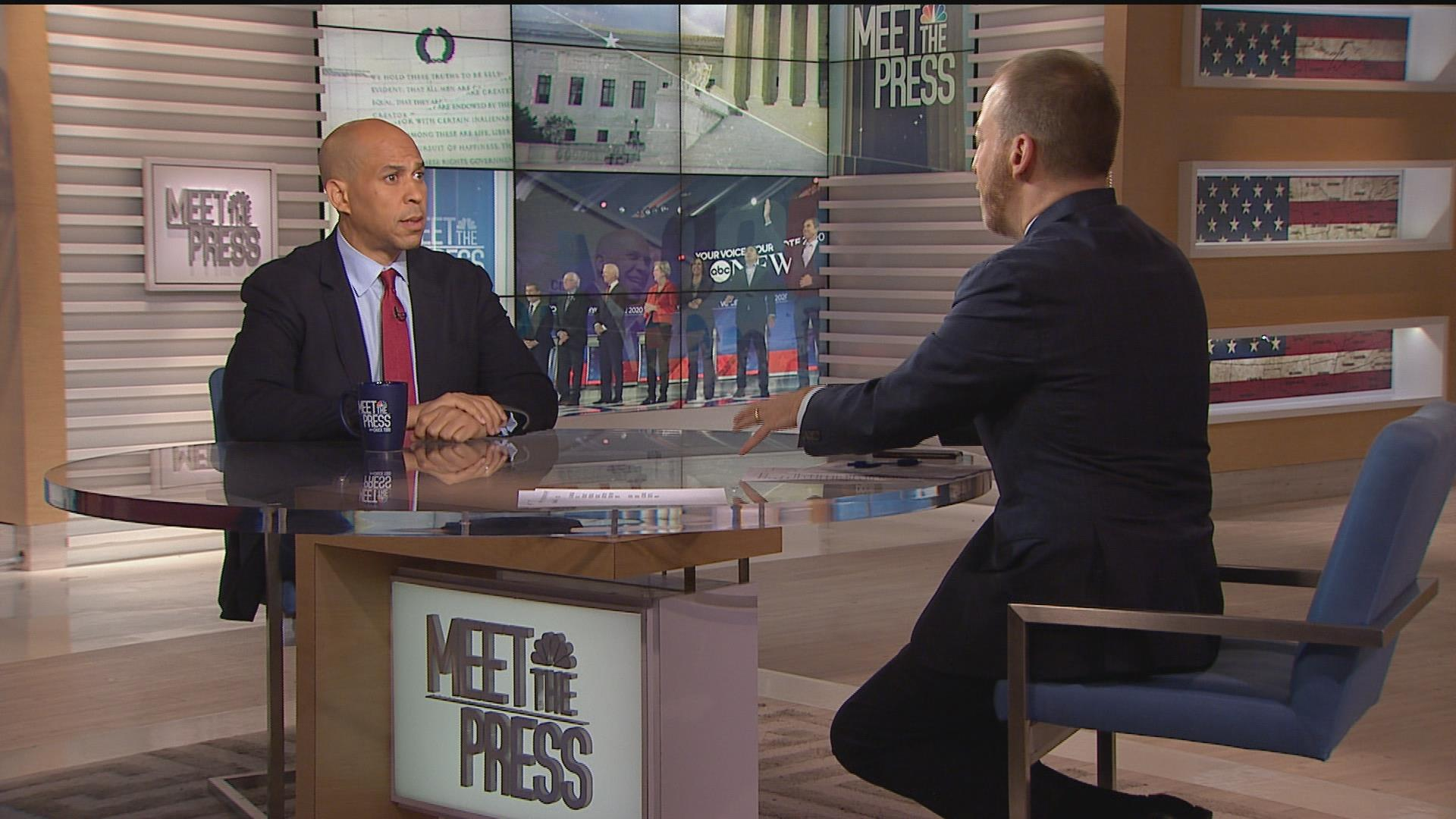 Full Booker: 'Anybody on the stage' would be better than Trump