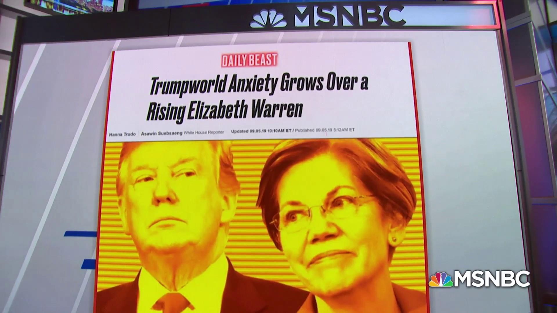 Daily Beast: Trumpworld anxiety grows over a rising Elizabeth Warren