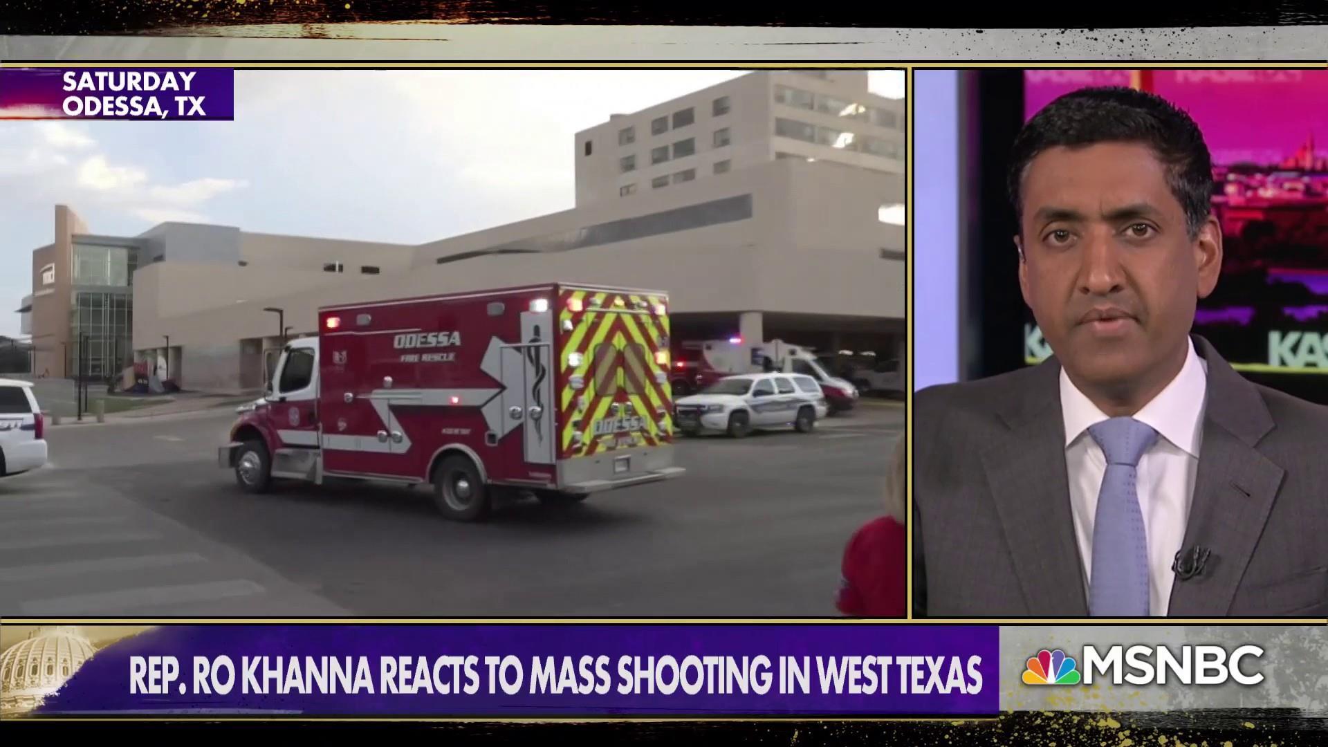 Rep. Ro Khanna on gun violence: 'Speaker Pelosi should call back the Congress tomorrow'